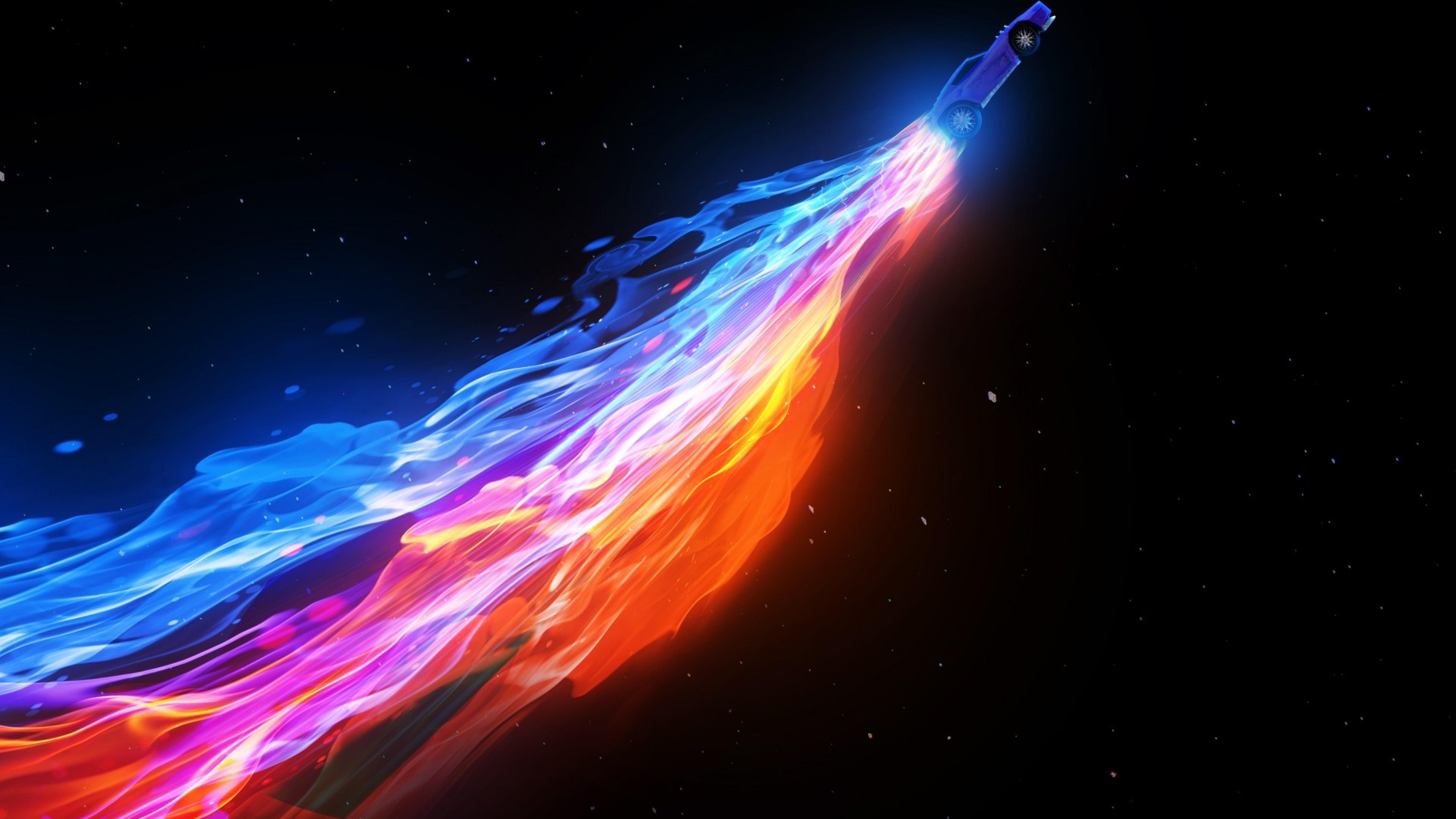 Download Galaxy Note 5 Galaxy S6 Edge Full Hd Stock: Flame Rainbow Car, Full HD Wallpaper