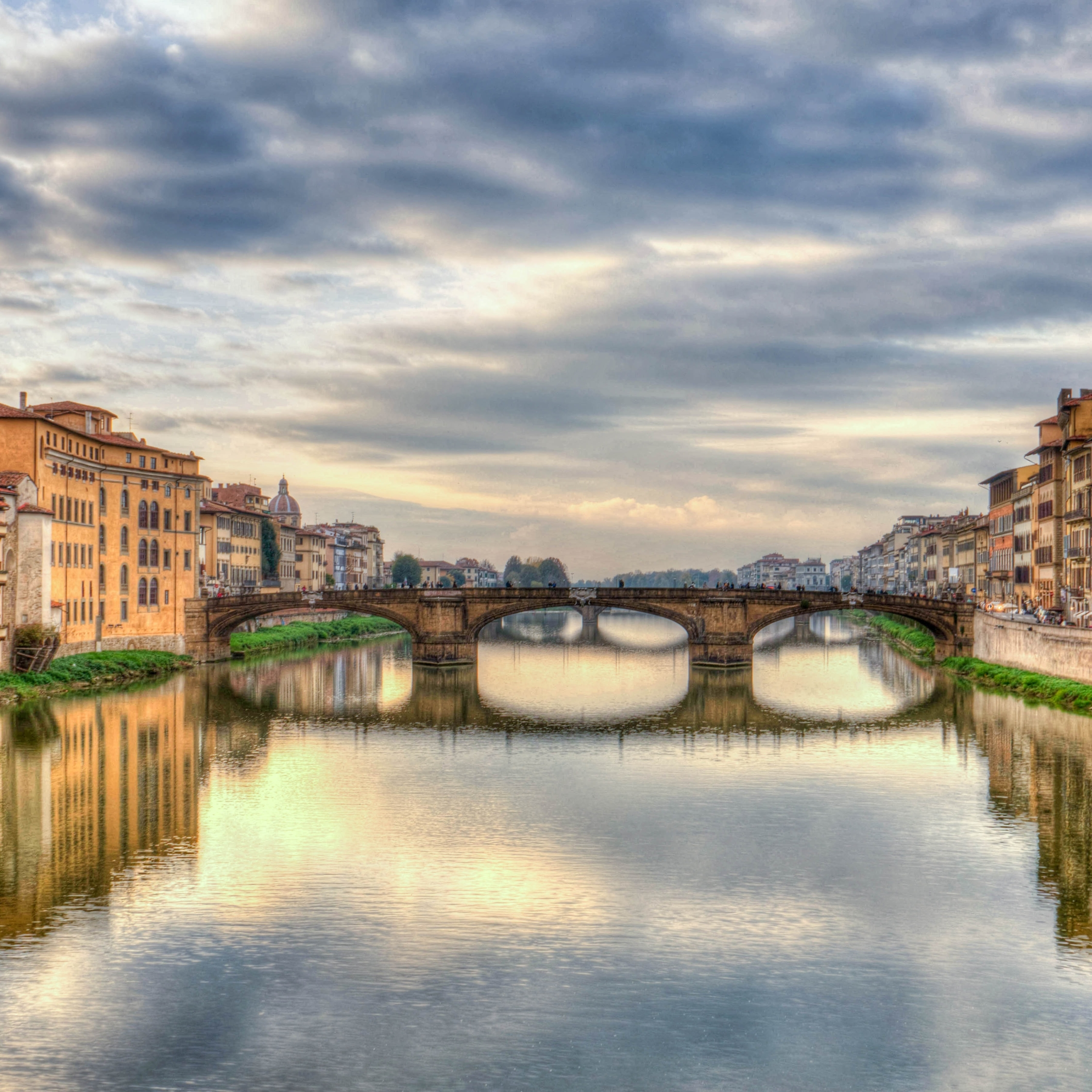 Florence, Italy, Bridge, HD 8K Wallpaper