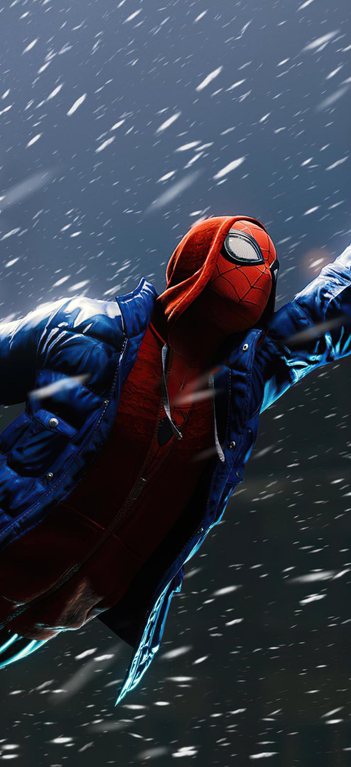 720x1570 Flying Miles Morales Marvels Spider-Man 720x1570 ...