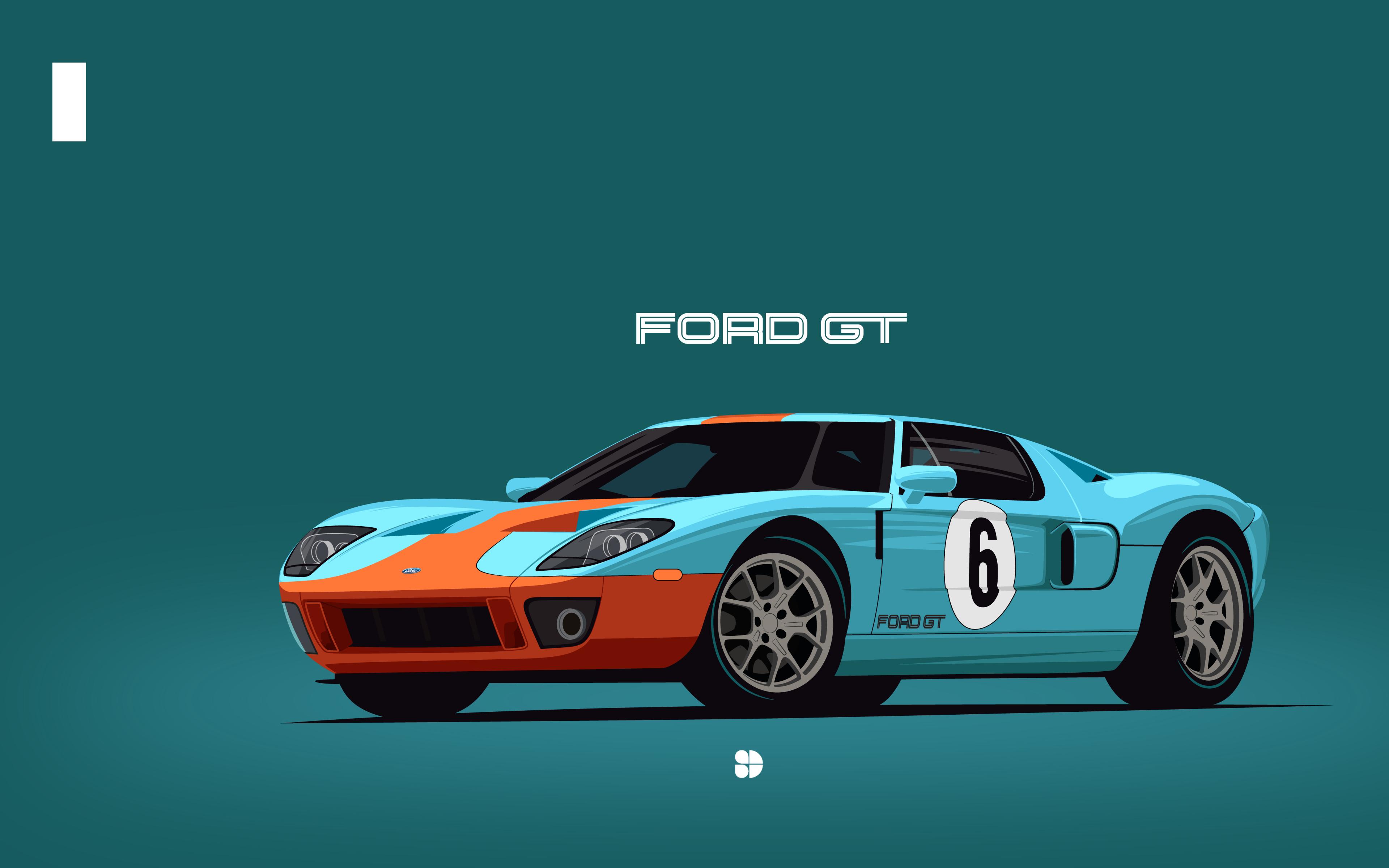 3840x2400 Ford GT40 Minimalist UHD 4K 3840x2400 Resolution ...