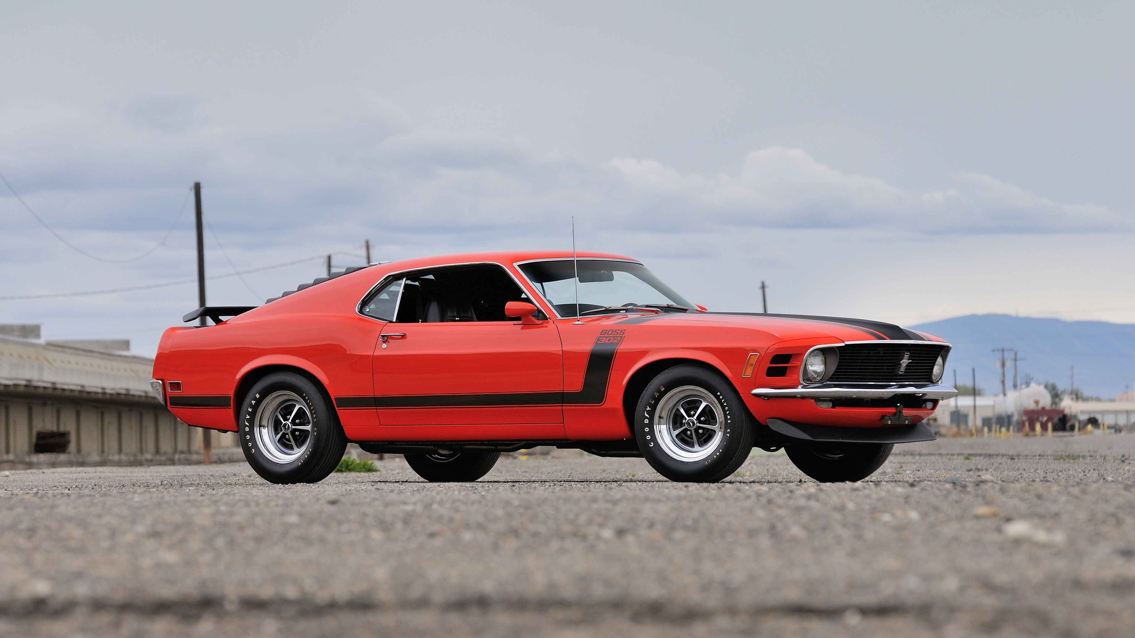Ford Mustang Boss 302 Red Muscle Car, HD 4K Wallpaper