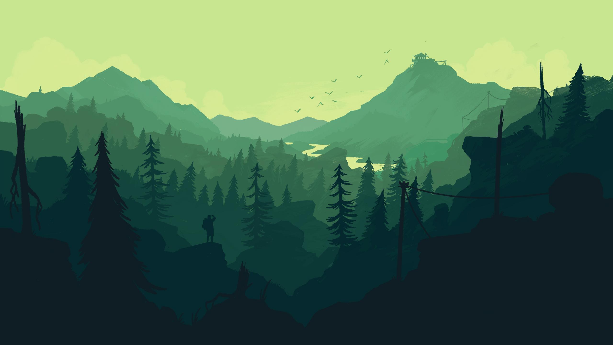 Beautiful Wallpaper Mountain Minimalistic - forest-minimal_57638_2560x1440  HD_932773.jpg