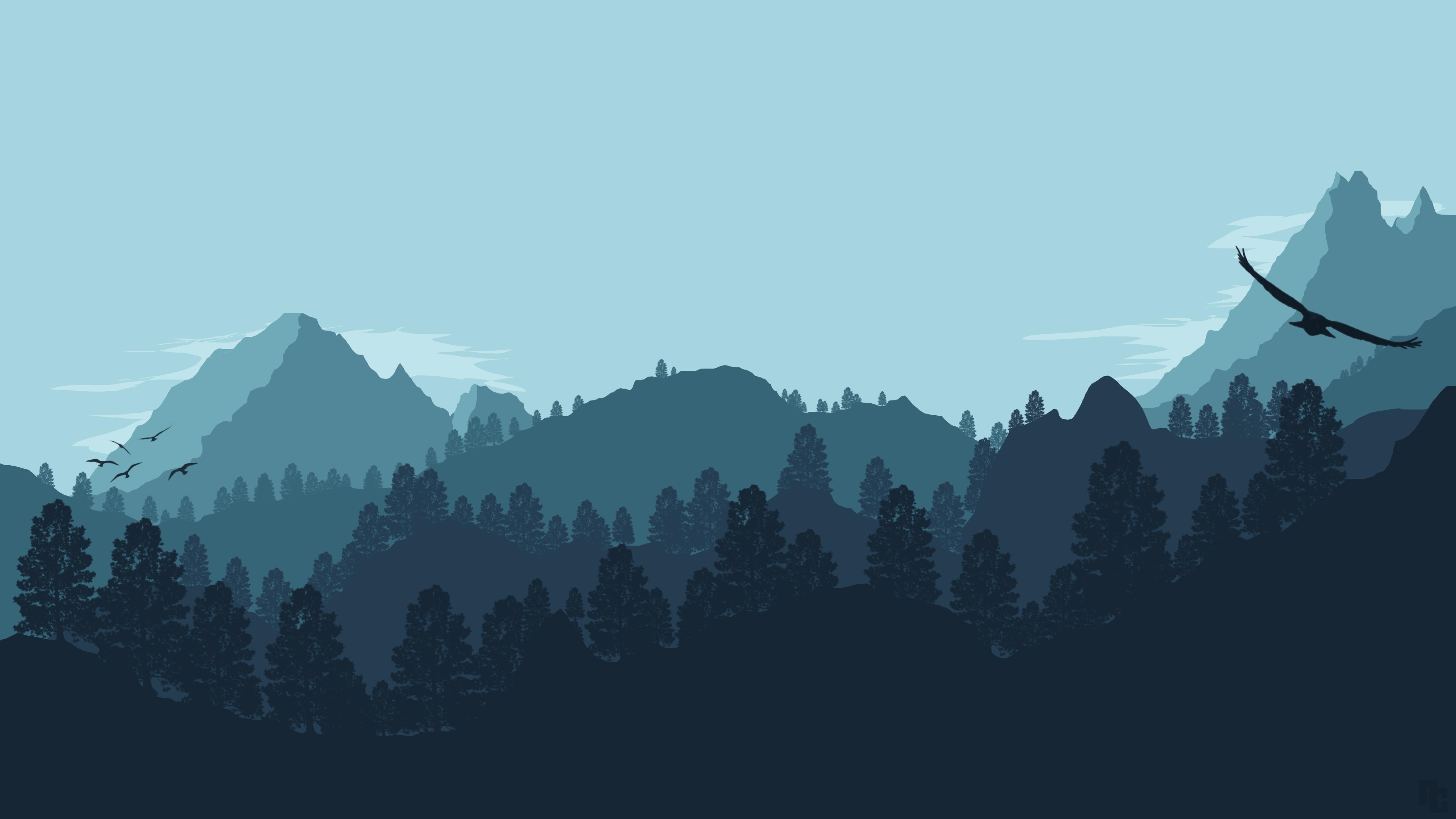 Recovery Mountain Minimalist 4k Hd Desktop Wallpaper For: Forest Mountain Artistic, HD 4K Wallpaper
