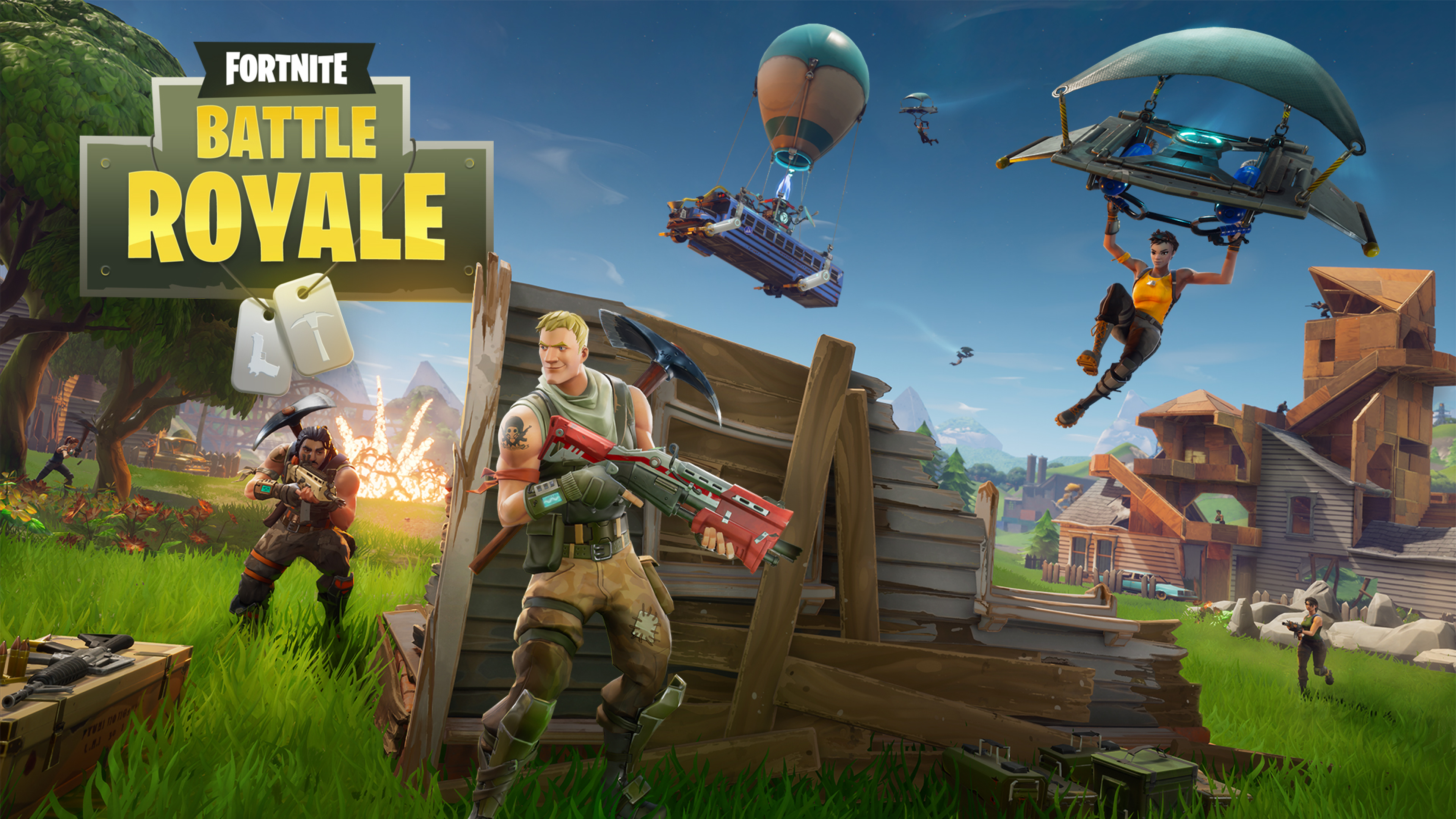 Download Fortnite Battle Royale 3840x2160 Resolution, Full HD Wallpaper