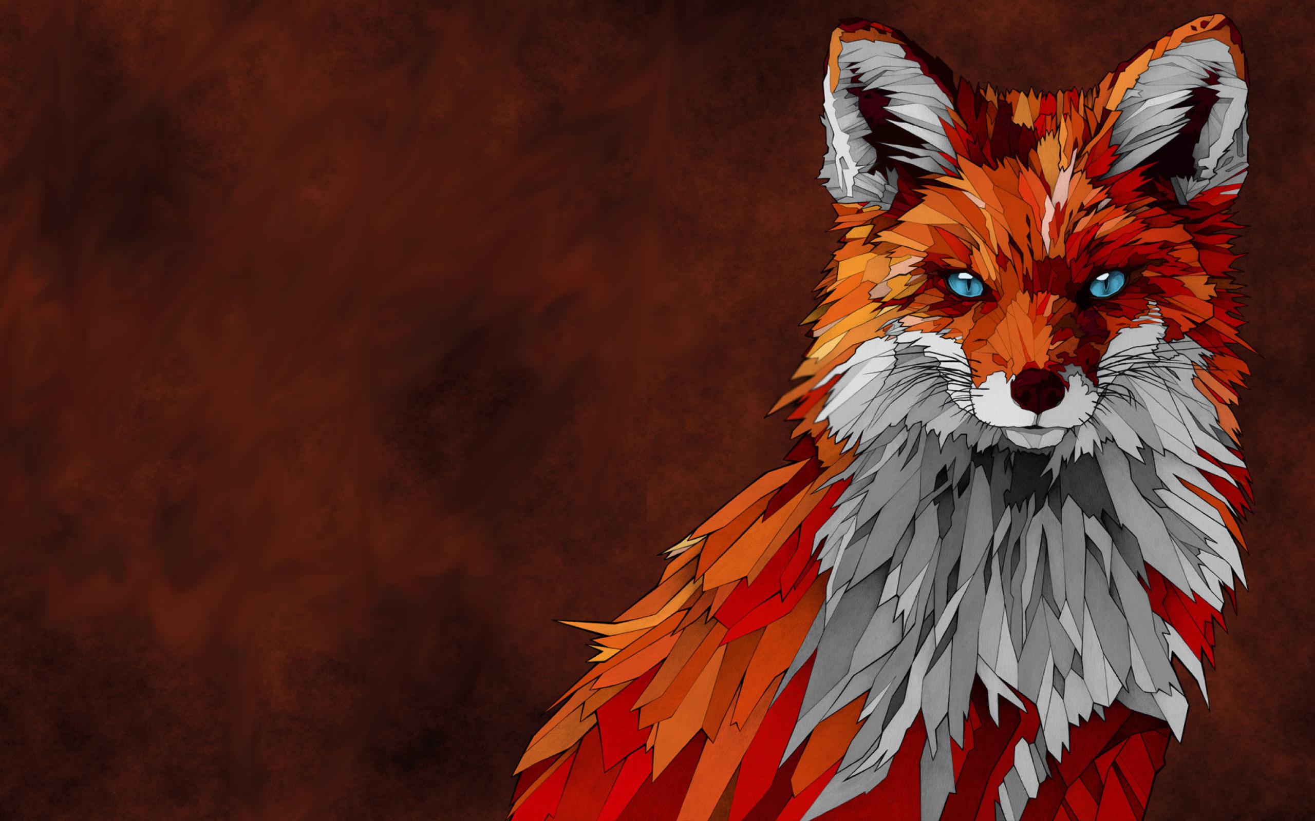 Fox animal artwork full hd wallpaper - Fox desktop background ...