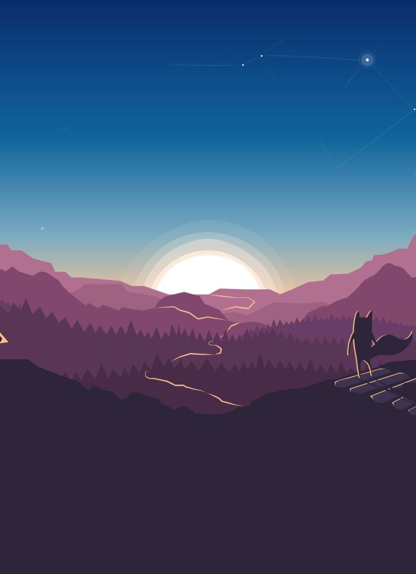Download fox forest minimalism 7680x4320 resolution hd 4k - 8k minimal wallpaper ...
