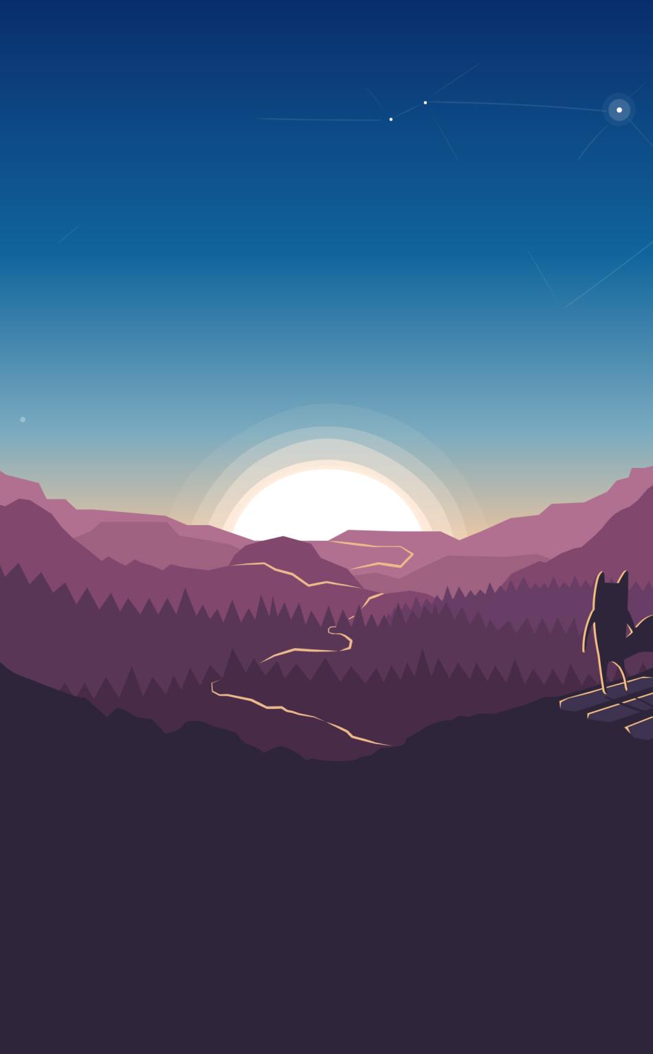 Download Fox Forest Minimalism 7680x4320 Resolution, HD 4K ...