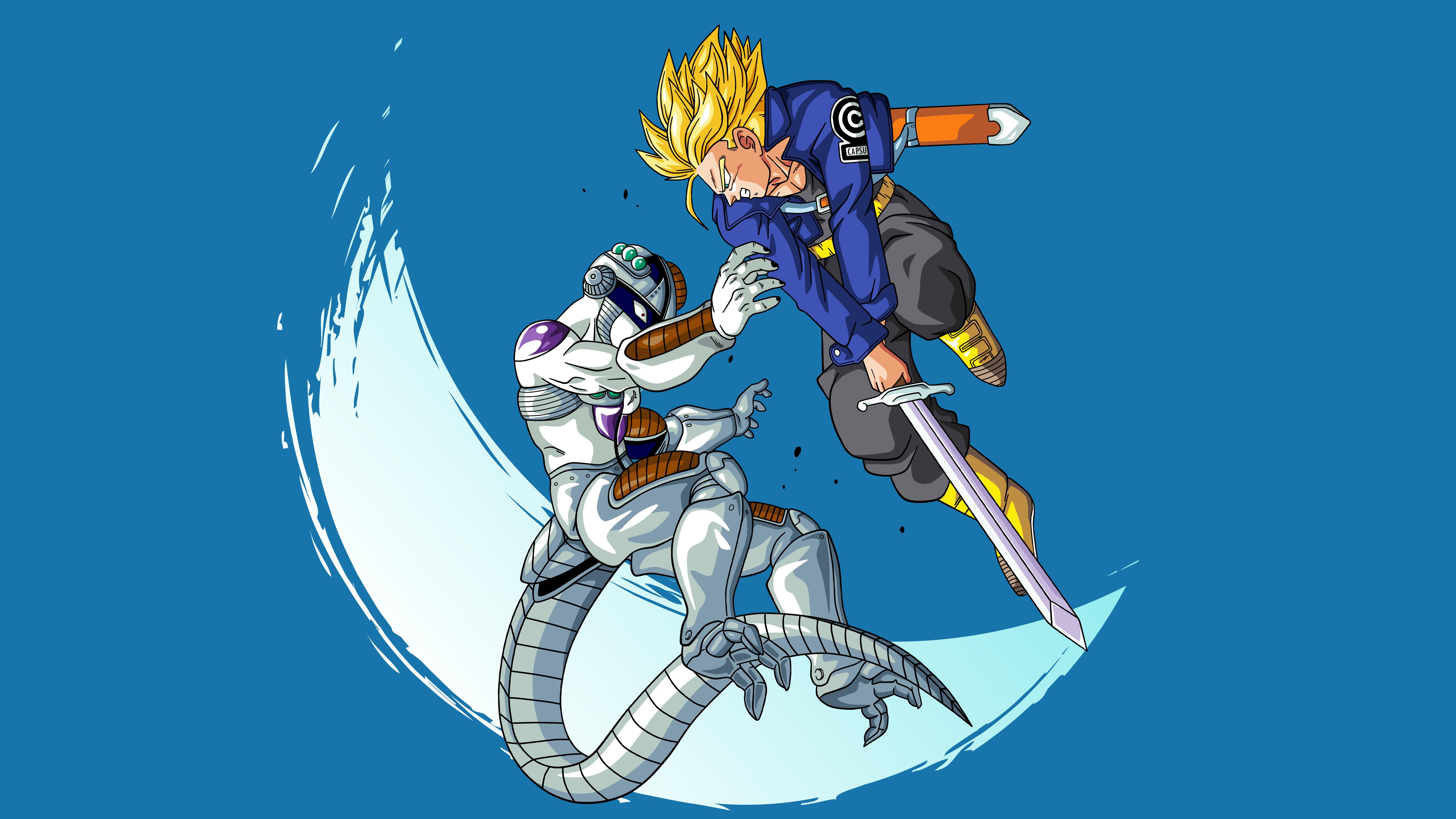750x1334 Freeza vs Trunks Dragon Ball
