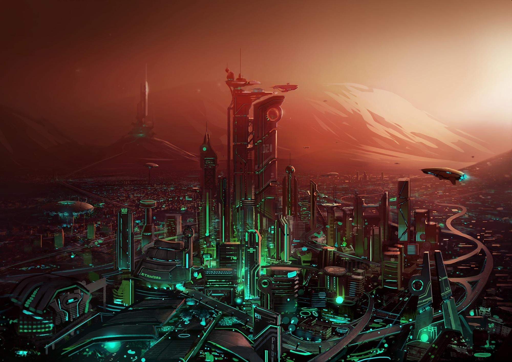 Futuristic Cityscape Wallpaper, HD Artist 4K Wallpapers ...