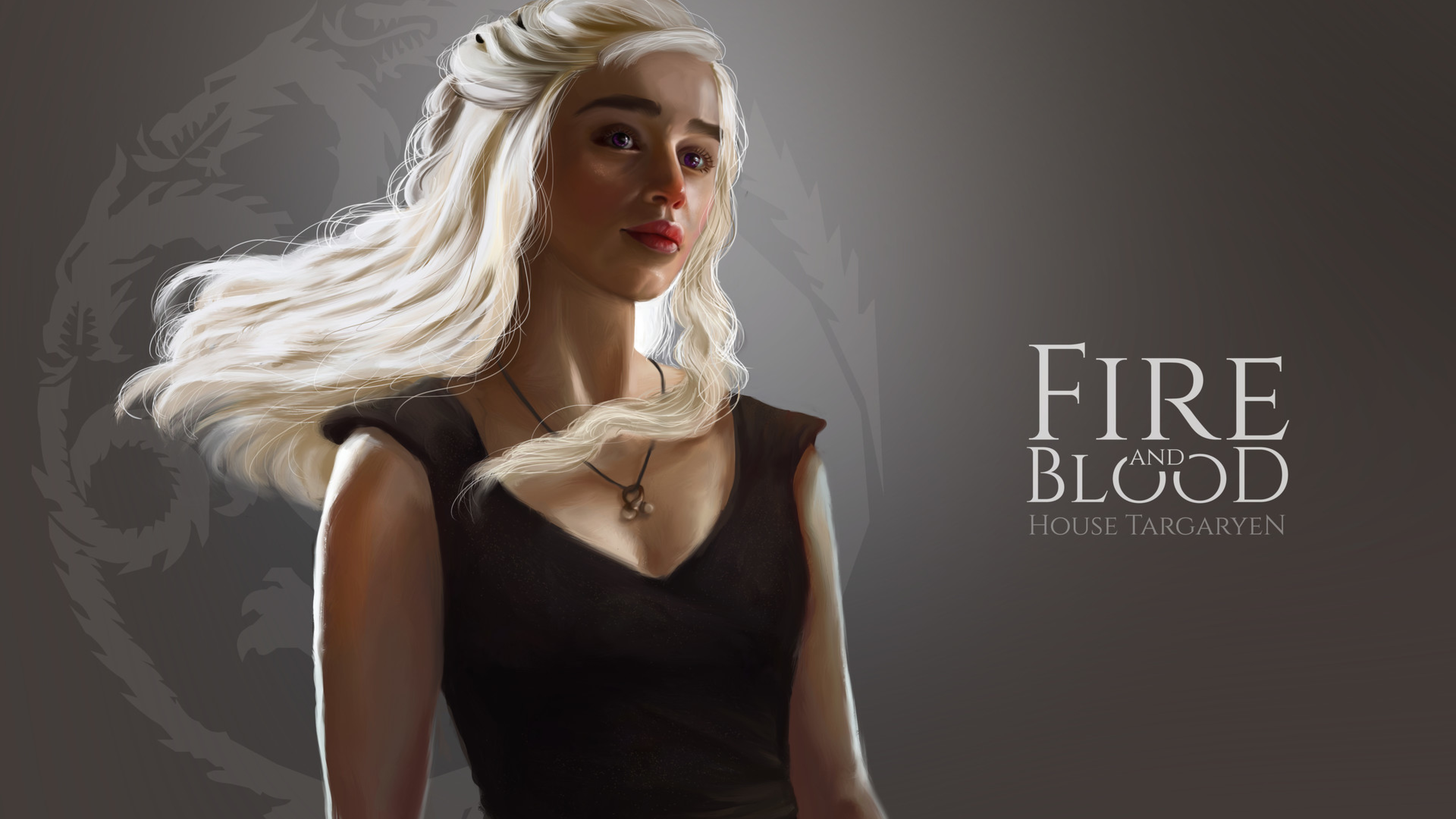 Game Of Thrones Dragon Girl Daenerys Targaryen Art Full HD Wallpaper