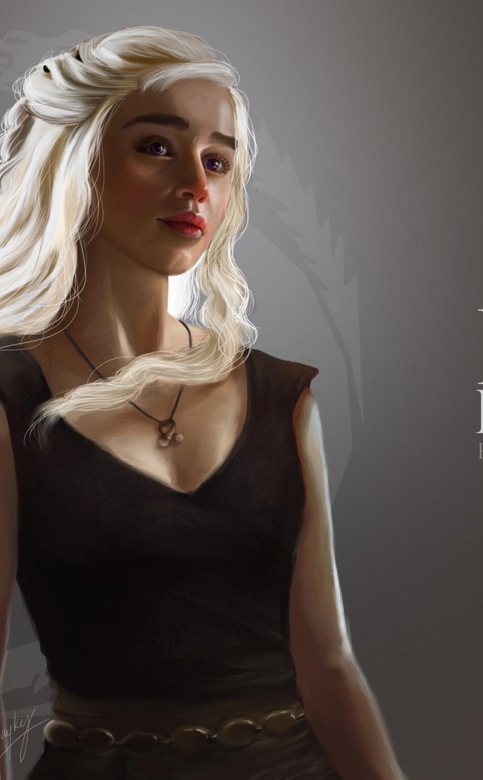 Game Of Thrones Dragon Girl Daenerys Targaryen Art Full