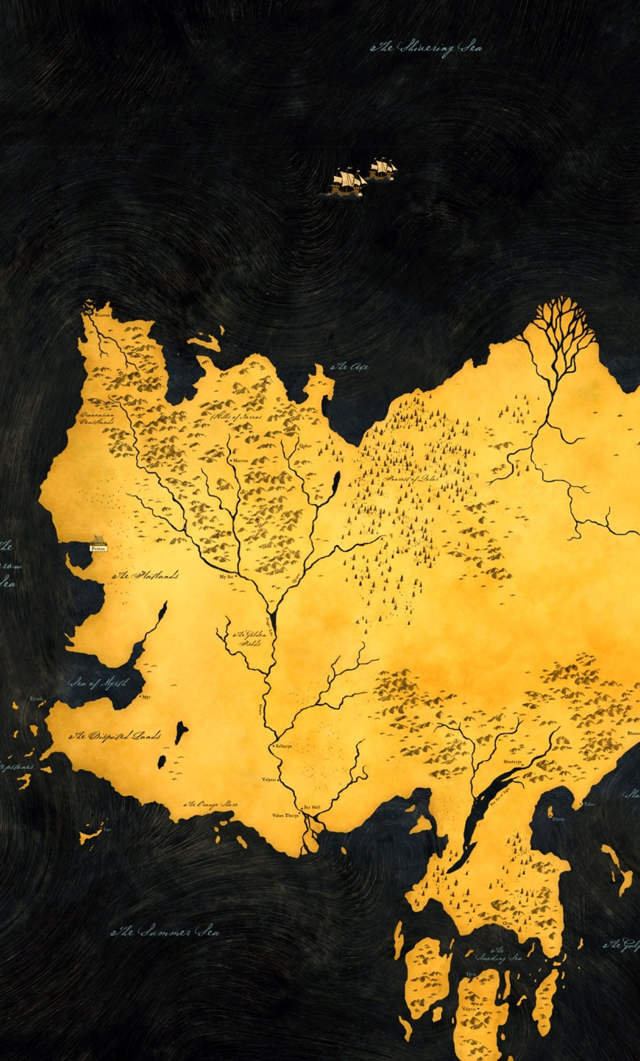 Download Game Of Thrones Map Photoshoot 2160x3840 Resolution Full