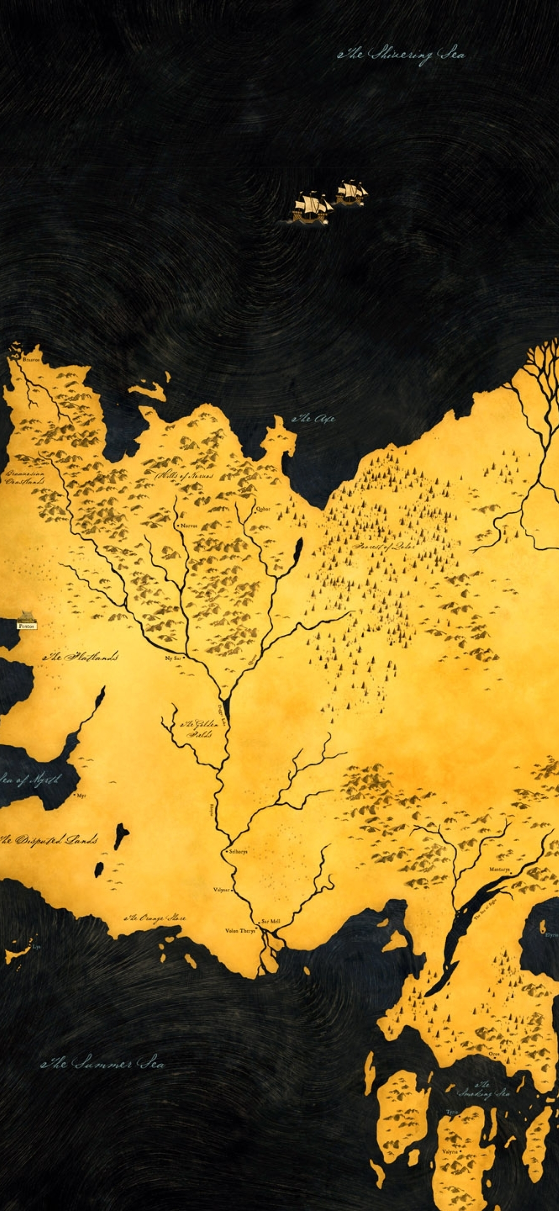 1125x2436 Game Of Thrones Map Hd Wallpaper Iphone Xs Iphone