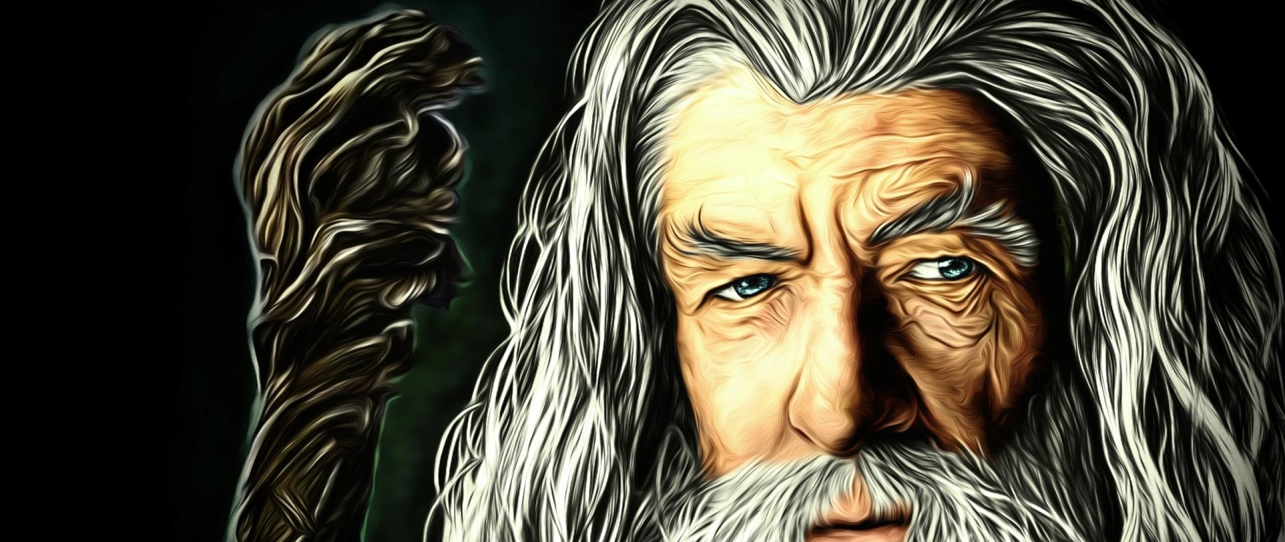 2560x1080 Gandalf The Lord Of The Rings Artwork 2560x1080 Resolution Wallpaper Hd Fantasy 4k Wallpapers Images Photos And Background