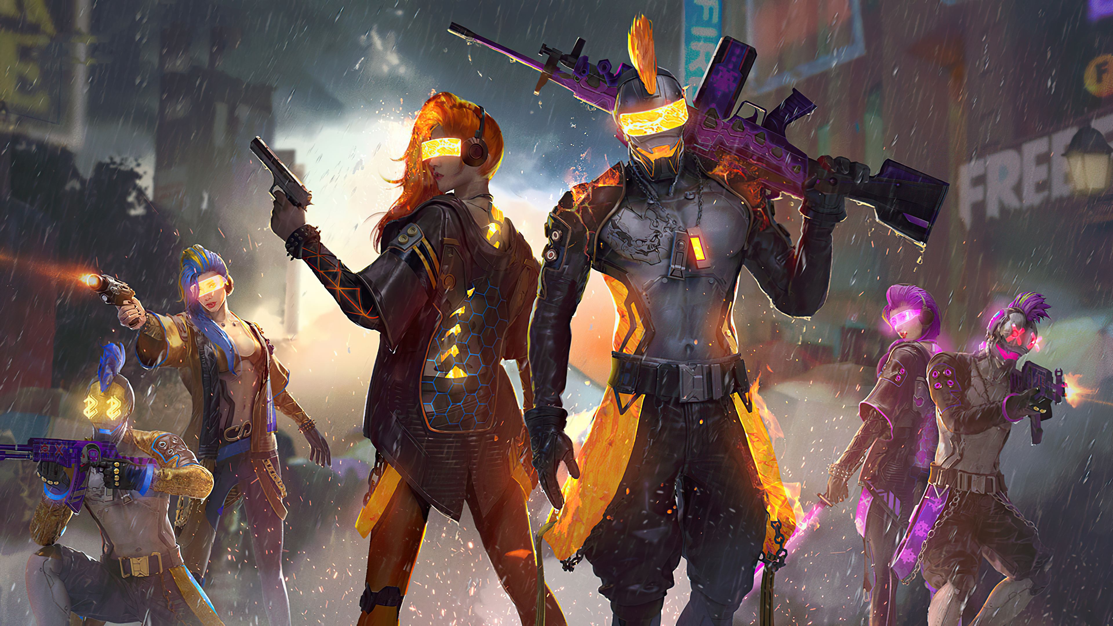 Garena Free Fire Hd Wallpapers 4k Backgrounds Wallpapers Den Full screen full hd 1080p free fire