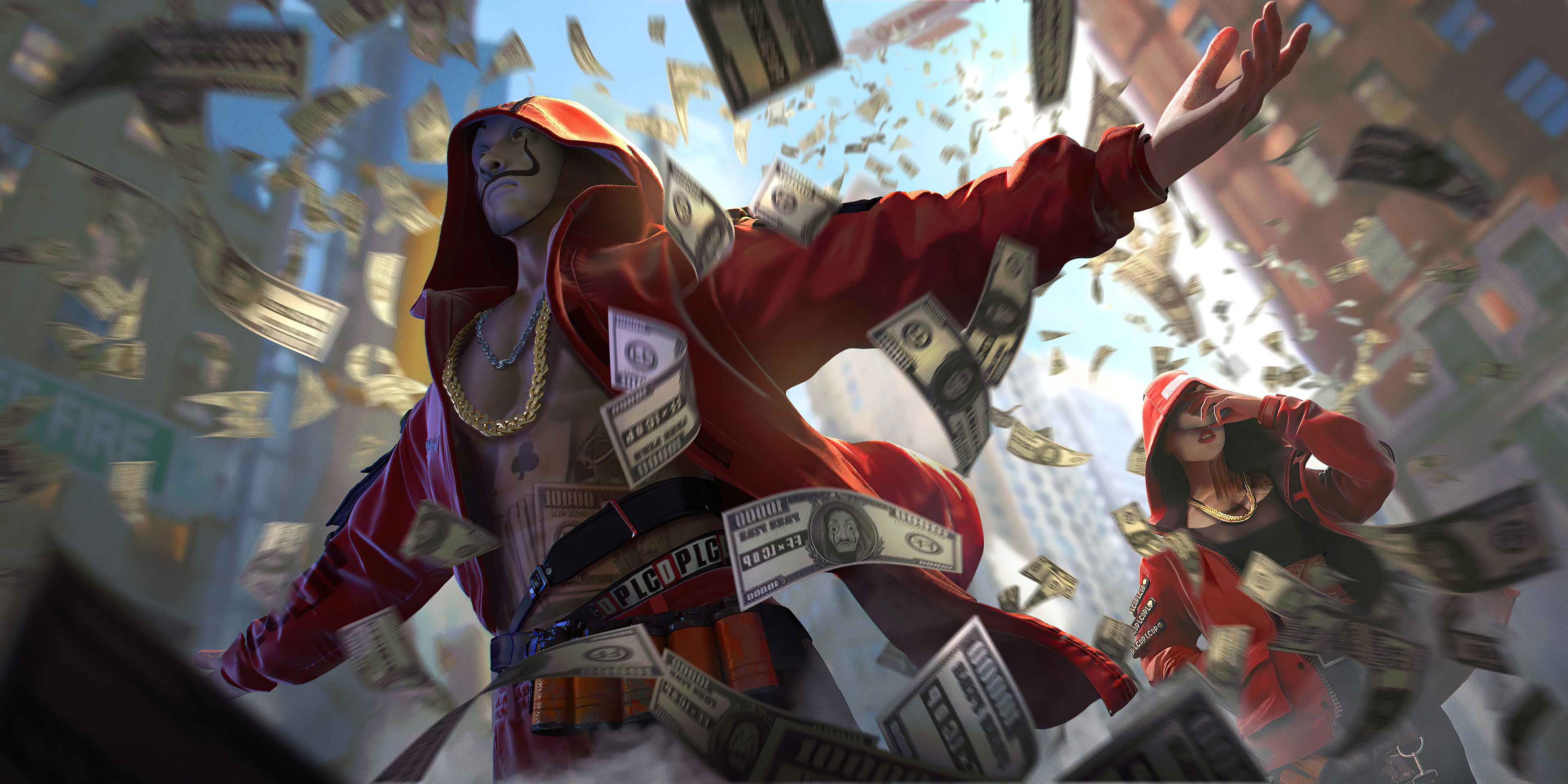 Garena Free Fire x Money Heist Wallpaper, HD Games 4K ...