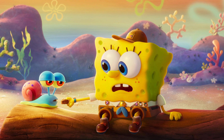 2880x1800 Gary & SpongeBob Macbook Pro Retina Wallpaper ...