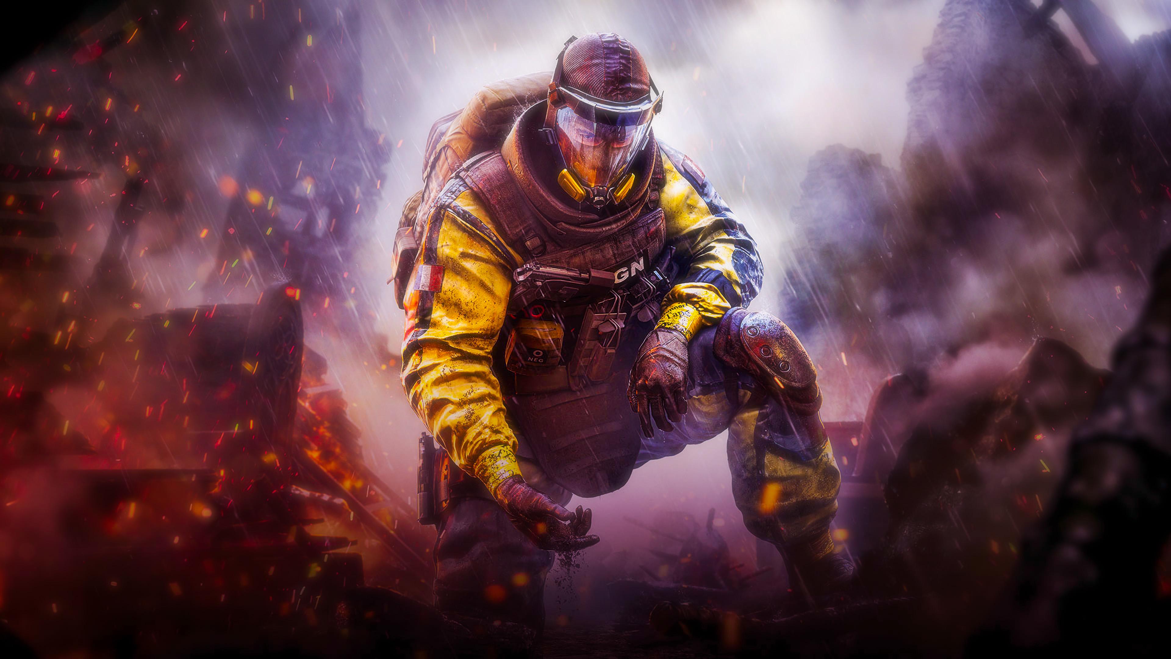 Gas Mask Tom Clancys Rainbow Six Siege Wallpaper Hd Games