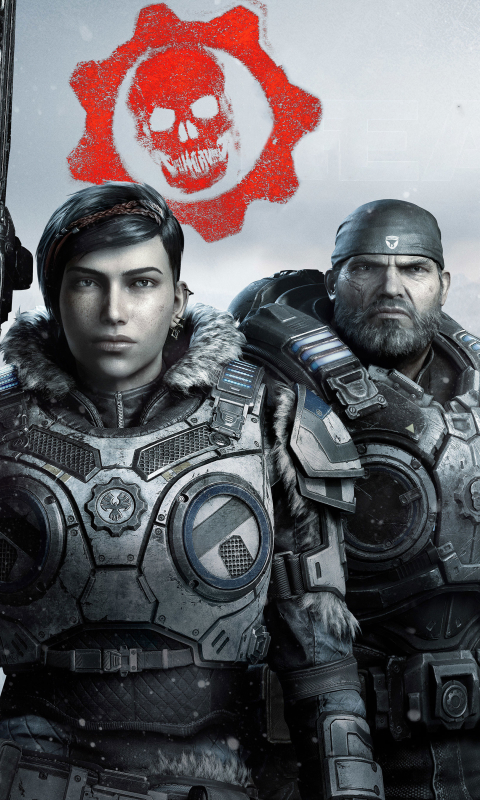 Gears 5 Game Wallpaper in 480x800 Resolution