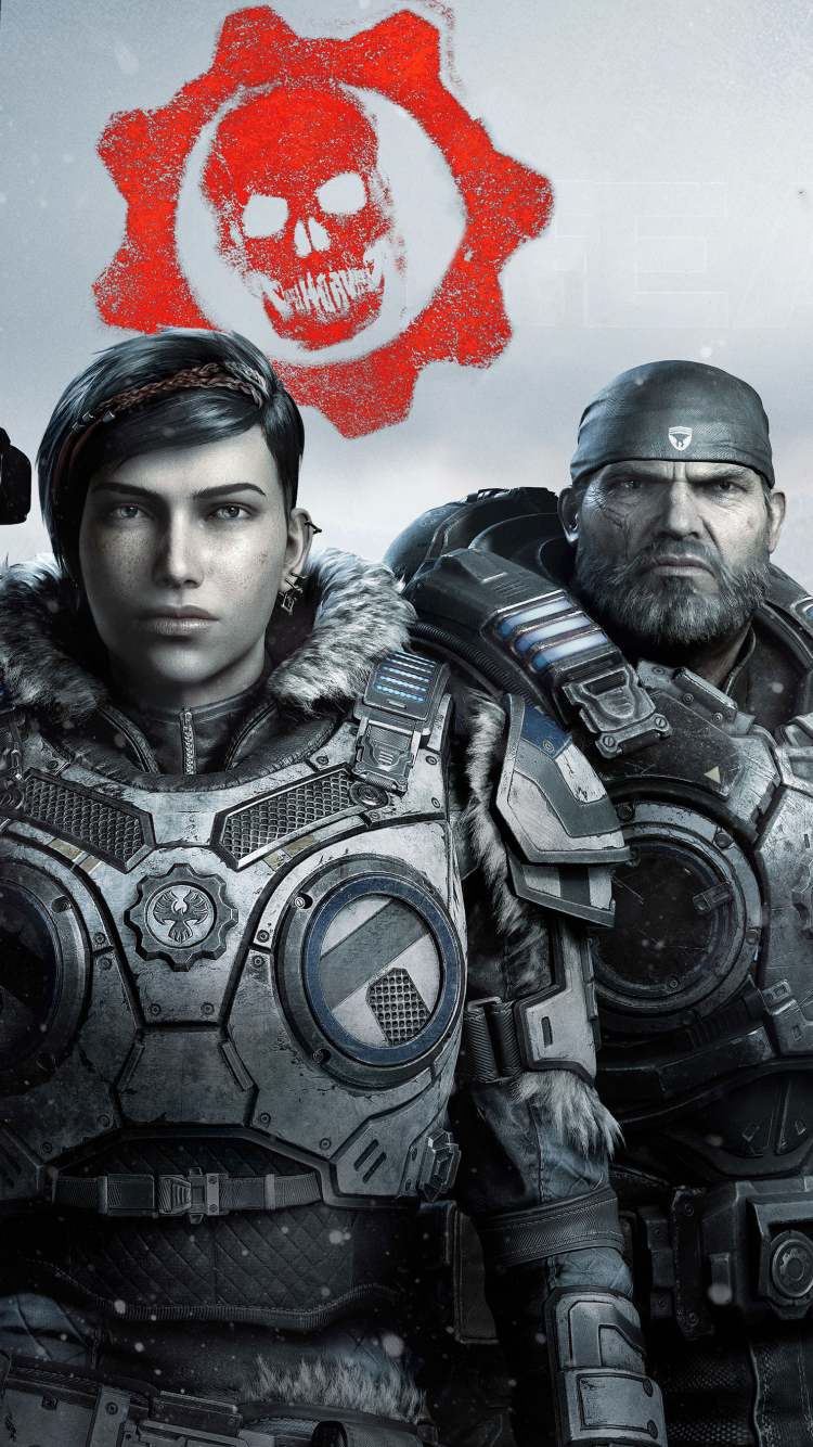 Gears 5 Game Wallpaper in 750x1334 Resolution
