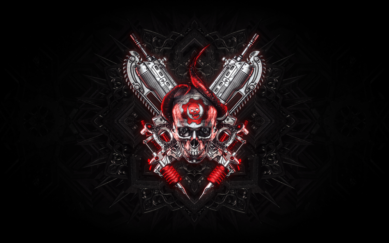 2880x1800 Gears Of War Logo 4k Macbook Pro Retina Wallpaper Hd