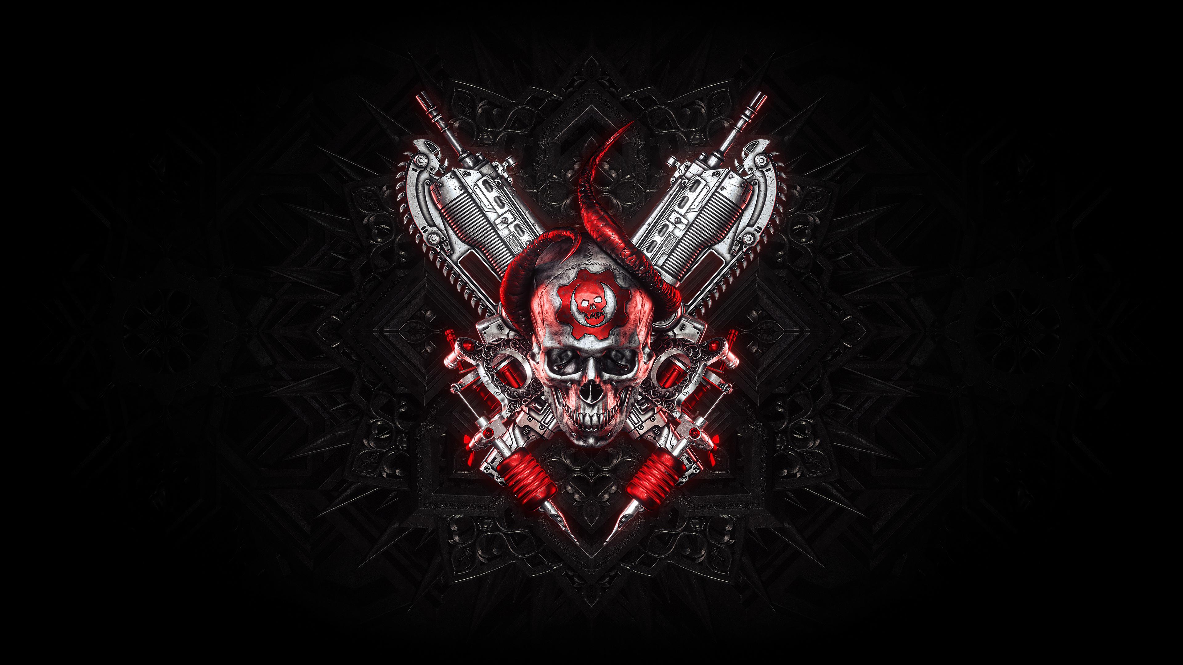 Gears Of War Logo 4k Wallpaper Hd Artist 4k Wallpapers