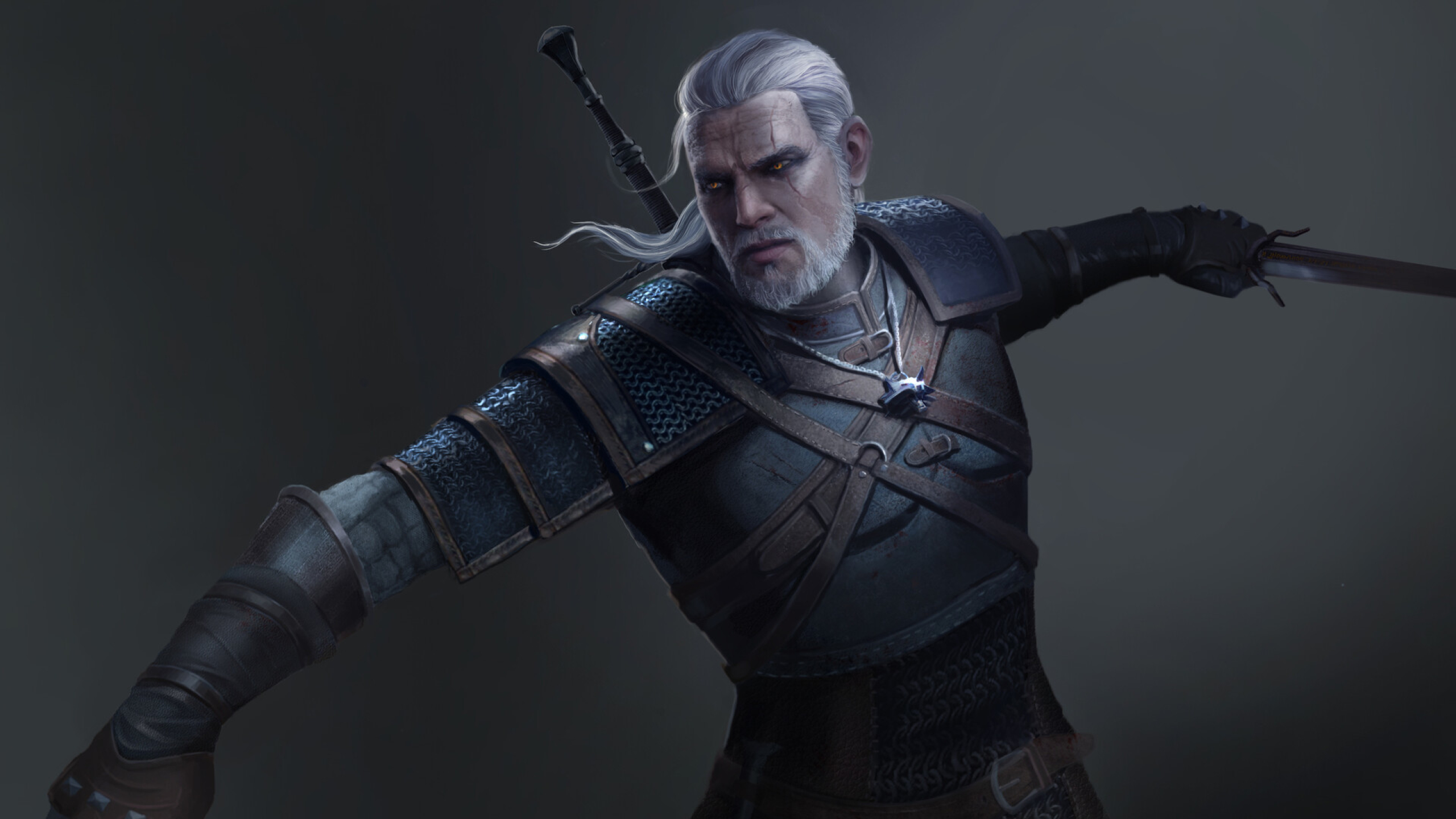 2560x1440 Geralt In The Witcher 3 1440p Resolution Wallpaper Hd