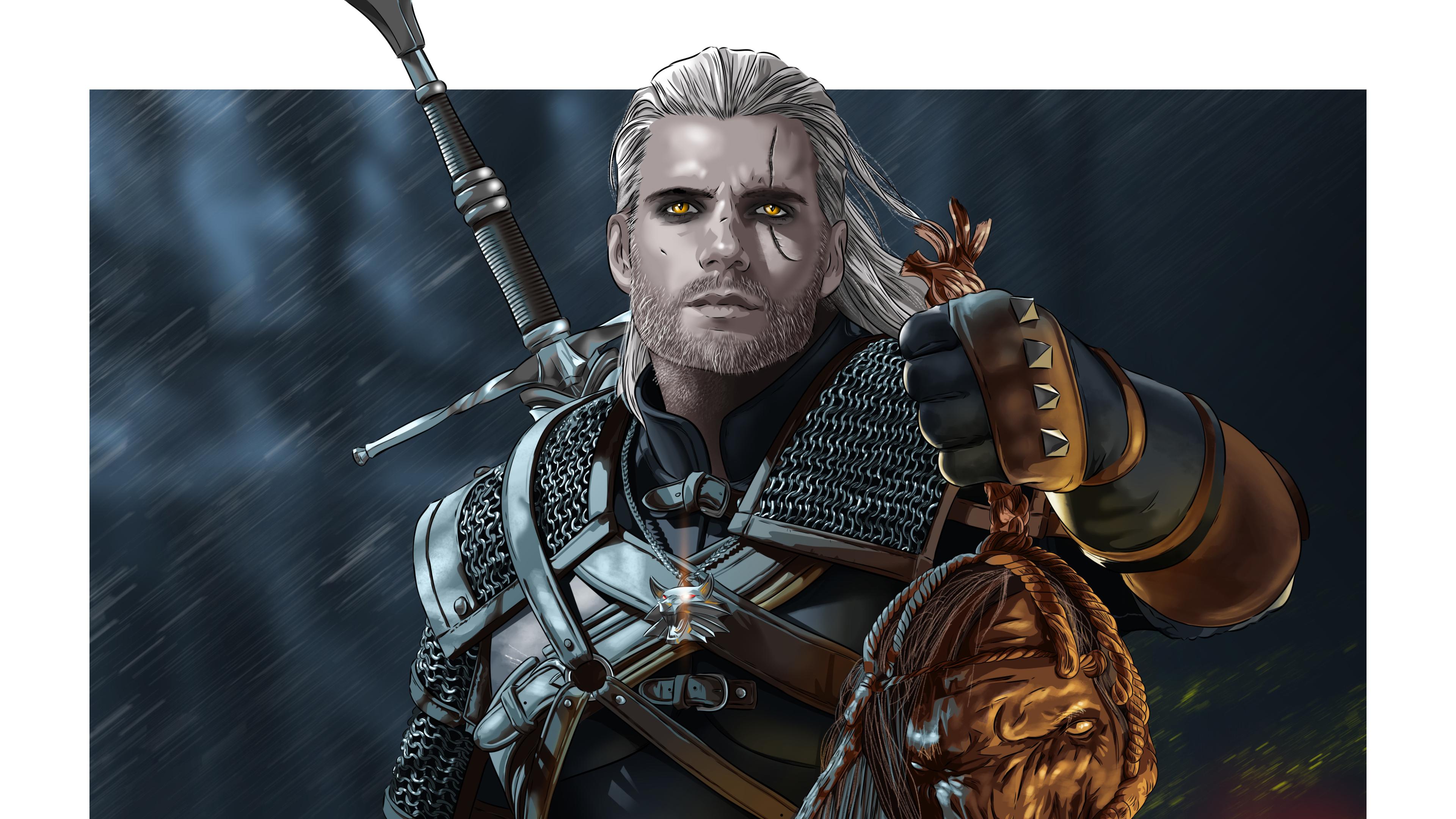 3840x2160 Geralt Of Rivia Netflix 4k Wallpaper Hd Tv Series