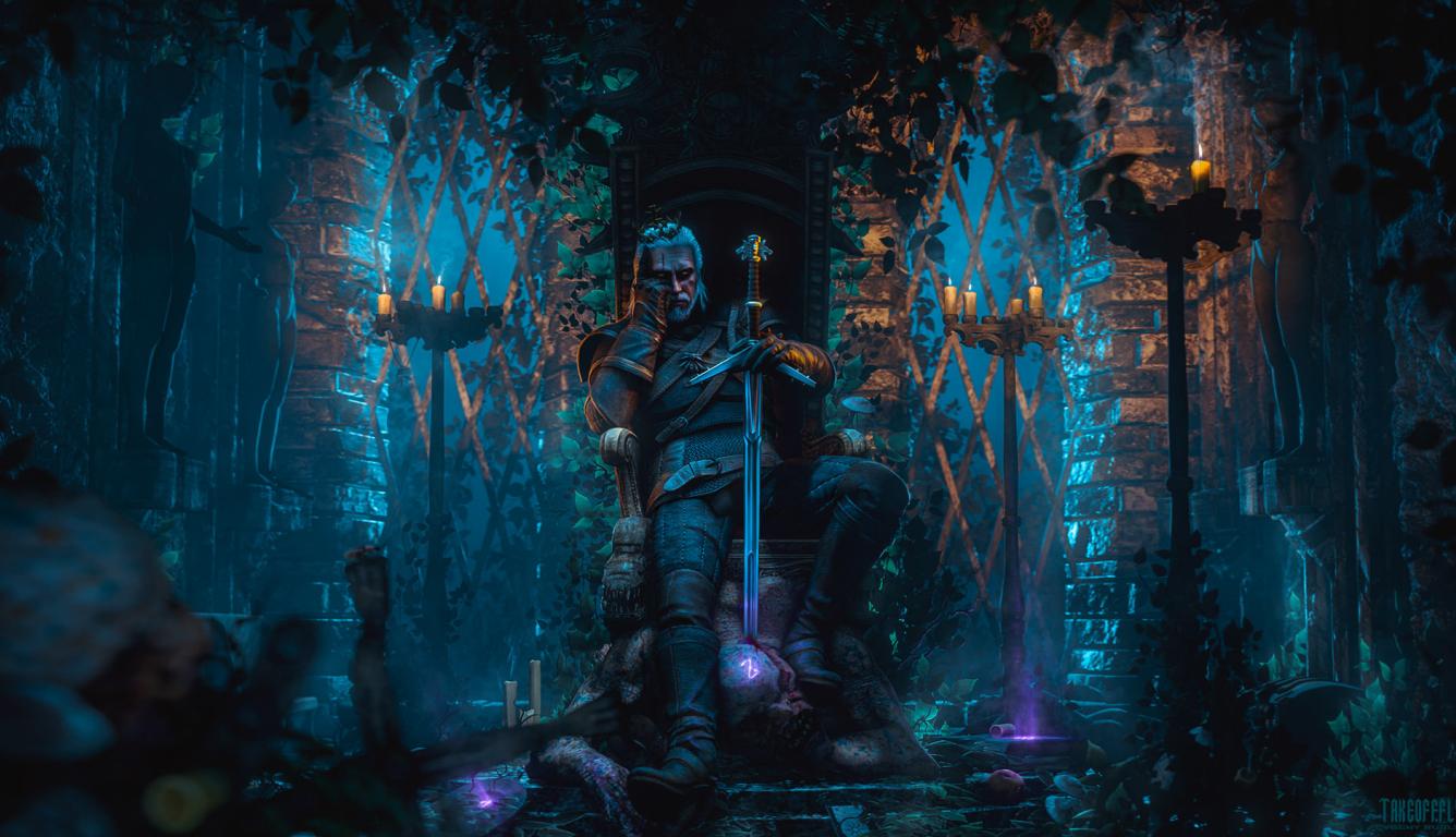 1336x768 Geralt Of Rivia The Witcher 3 Hd Laptop Wallpaper Hd