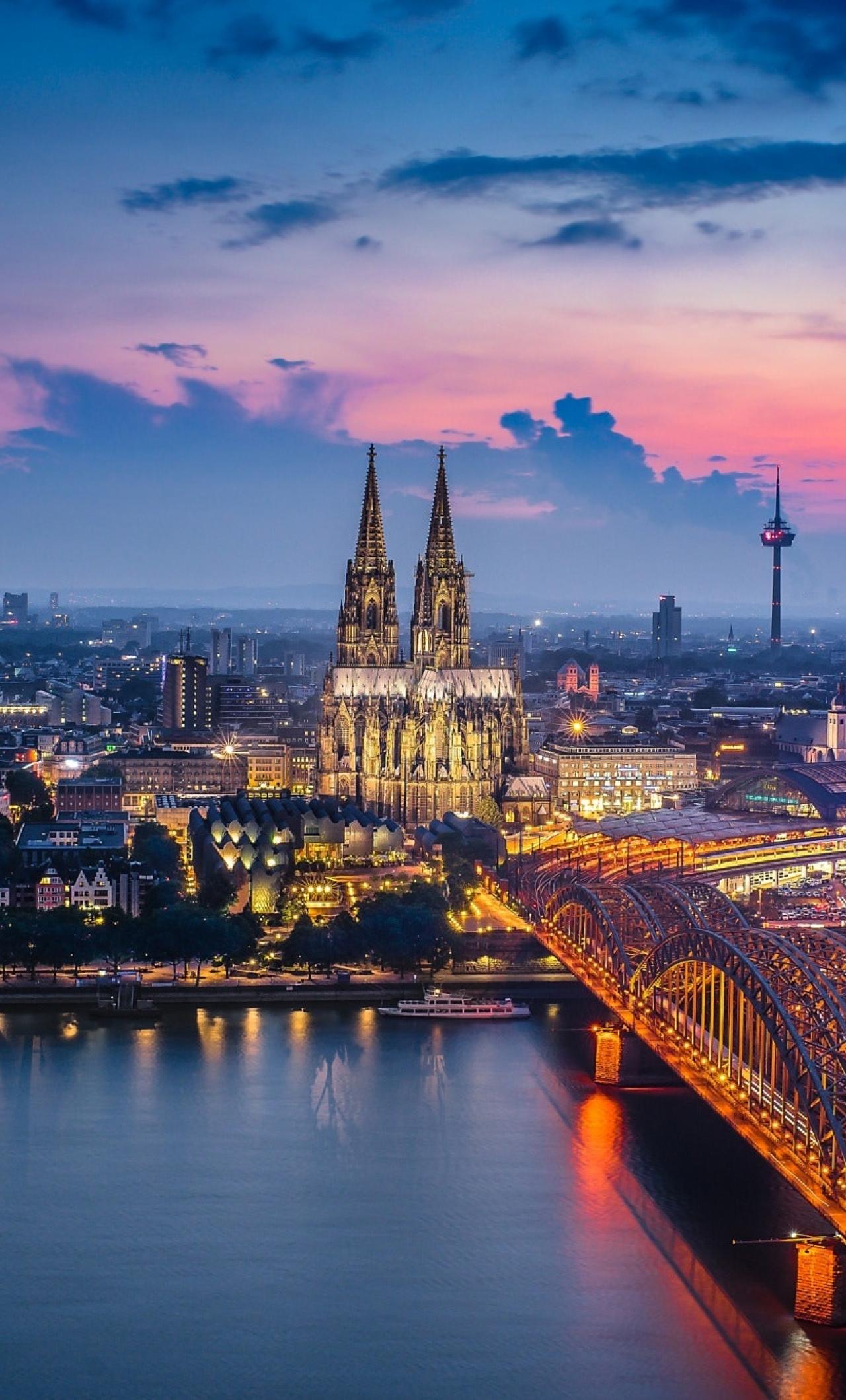 1280x2120 Germany Cologne Bridge Building City iPhone 6 ...
