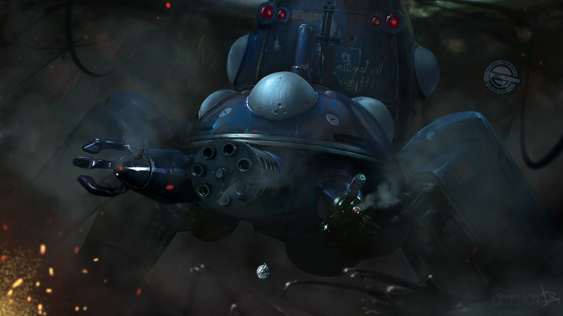 1920x1080 Ghost In The Shell Tachikoma Gun 1080p Laptop Full Hd