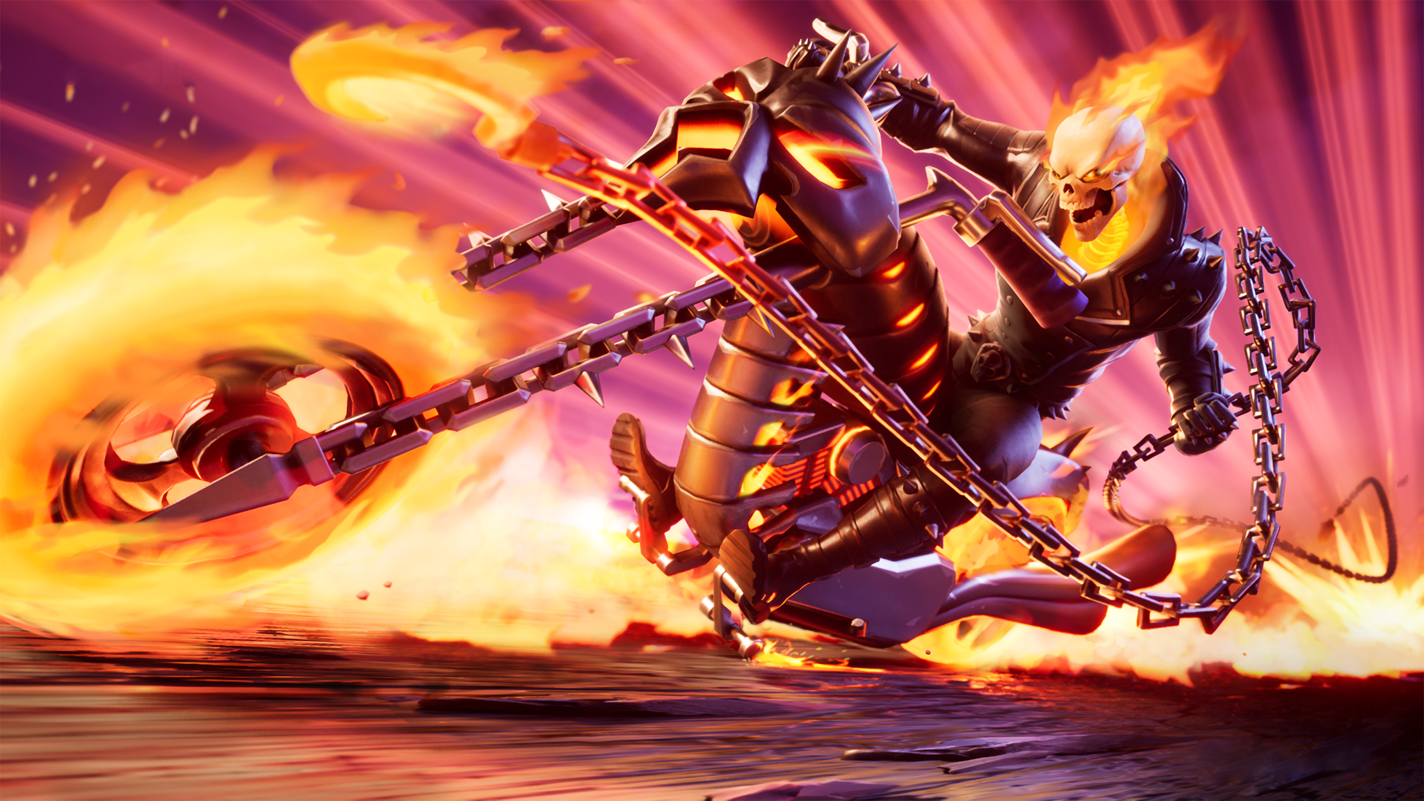 2048x1152 Ghost Rider 4K Fortnite 2048x1152 Resolution ...