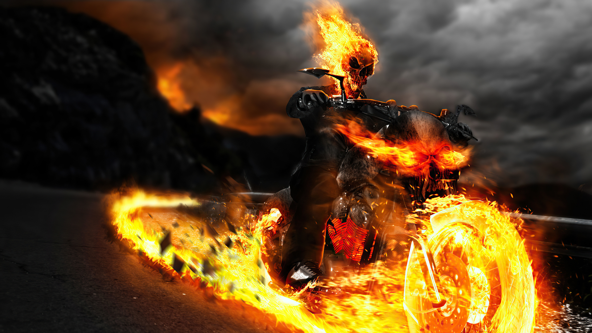 1920x1080 Ghost Rider 4k Mcu 1080p Laptop Full Hd Wallpaper Hd Superheroes 4k Wallpapers Images Photos And Background