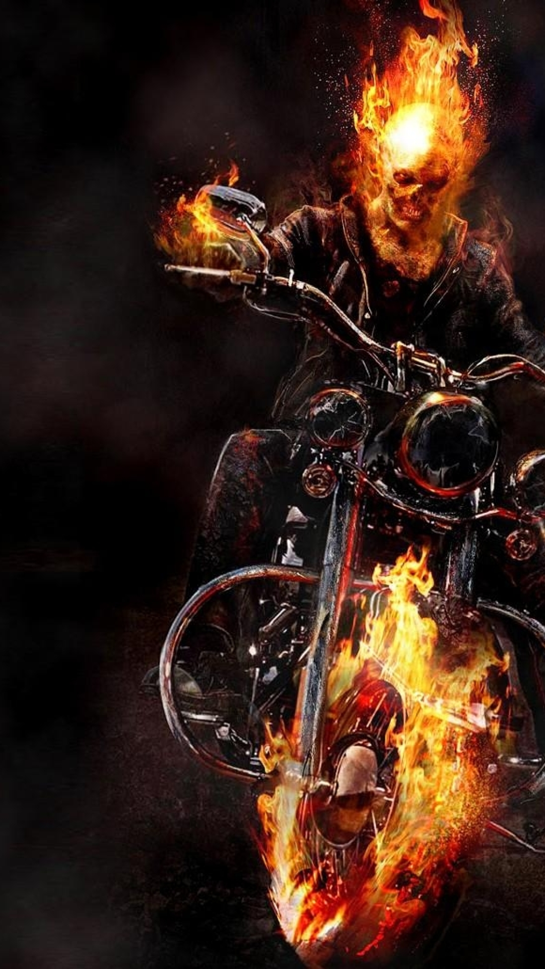 Ghost Rider Motorcycle Fire Wallpaper Hd Fantasy 4k Wallpapers Images Photos And Background