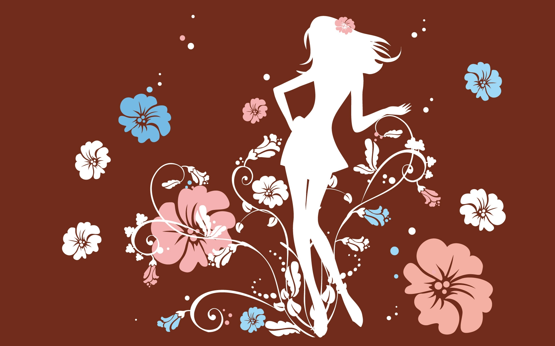 графика абстракция девушка цветы graphics abstraction girl flowers  № 2062449 загрузить
