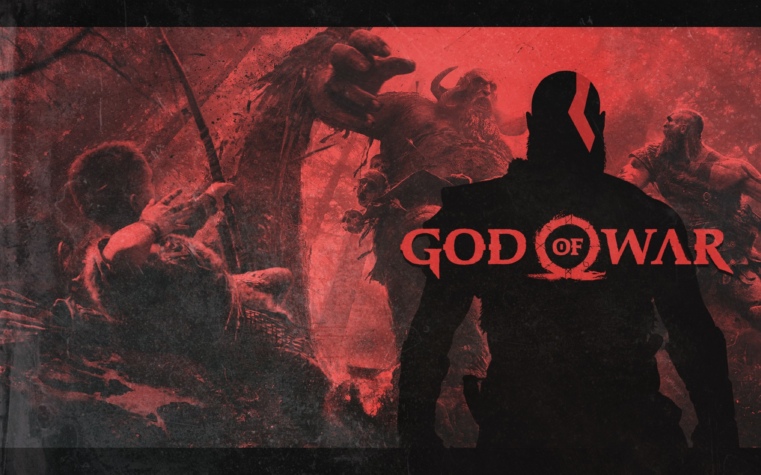 2560x1600 God Of War 4 Video Game Poster 2560x1600
