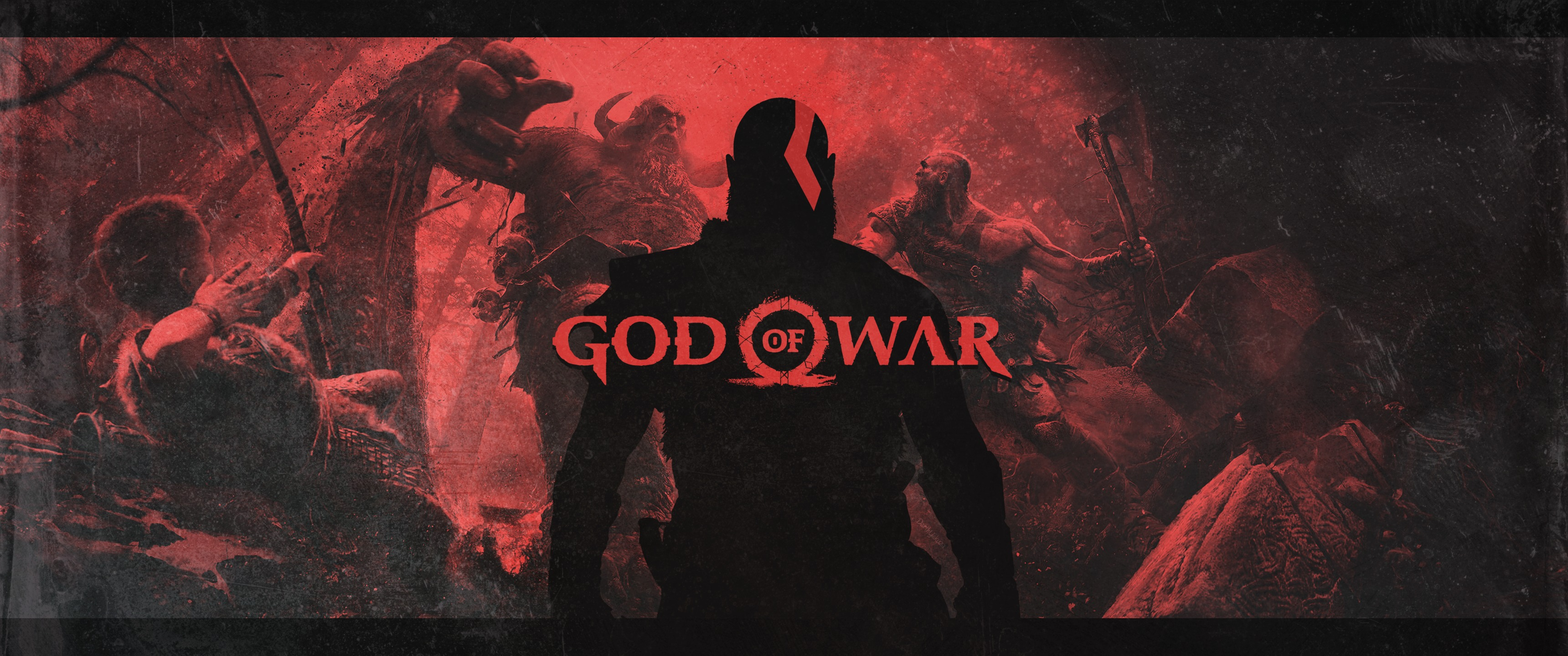 god of war 4 video game poster, hd 4k wallpaper