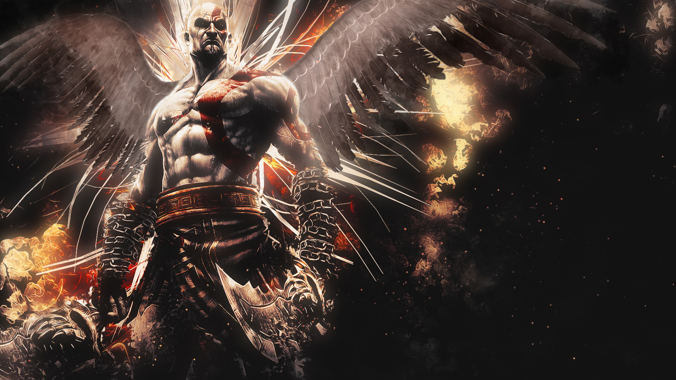 1366x768 God Of War Ascension Kratos 1366x768 Resolution