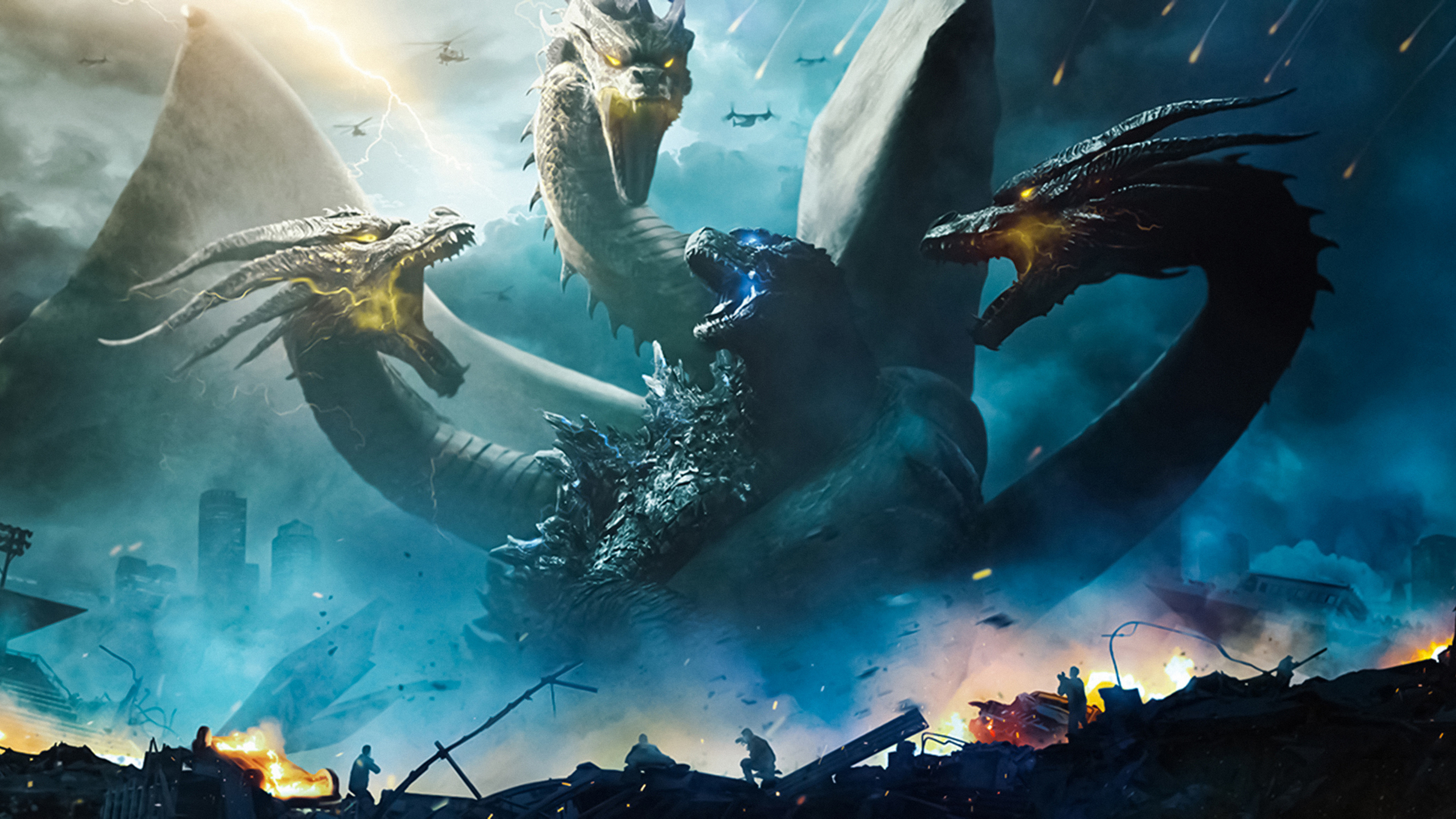 2560x1440 Godzilla King Of The Monsters 4k 8k 1440p