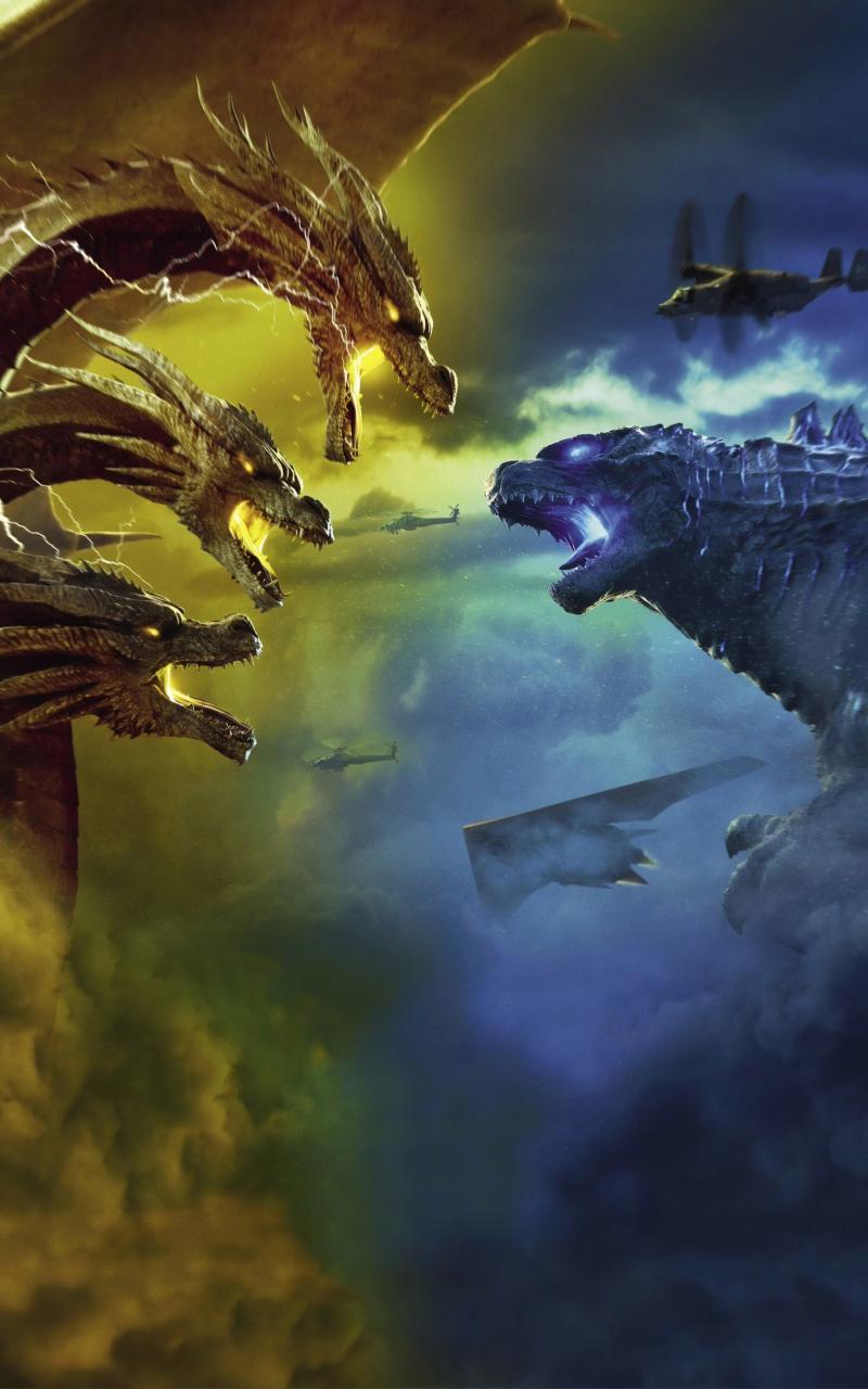 800x1280 Godzilla King of the Monsters 4K Nexus 7,Samsung ...