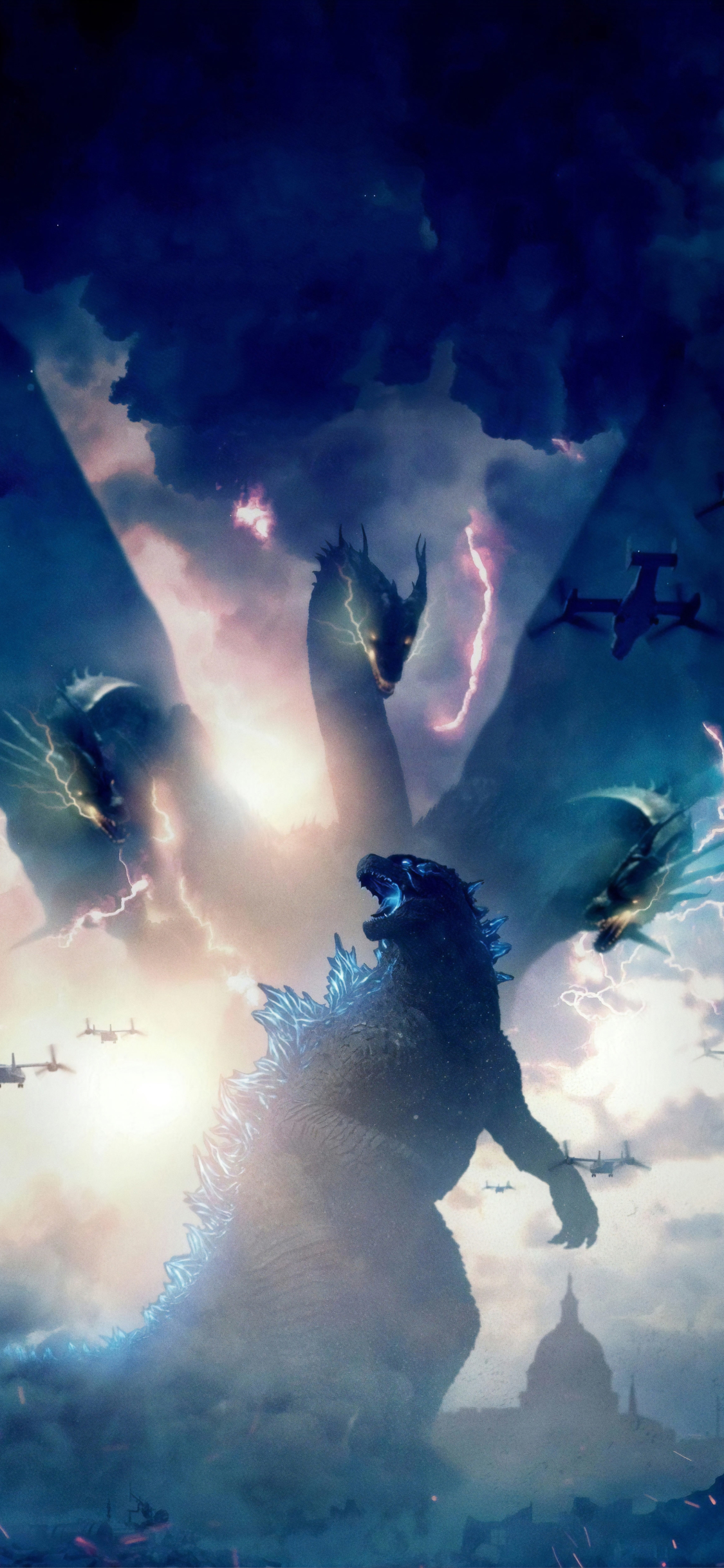 1125x2436 Godzilla King of the Monsters Movie 2019 Iphone ...