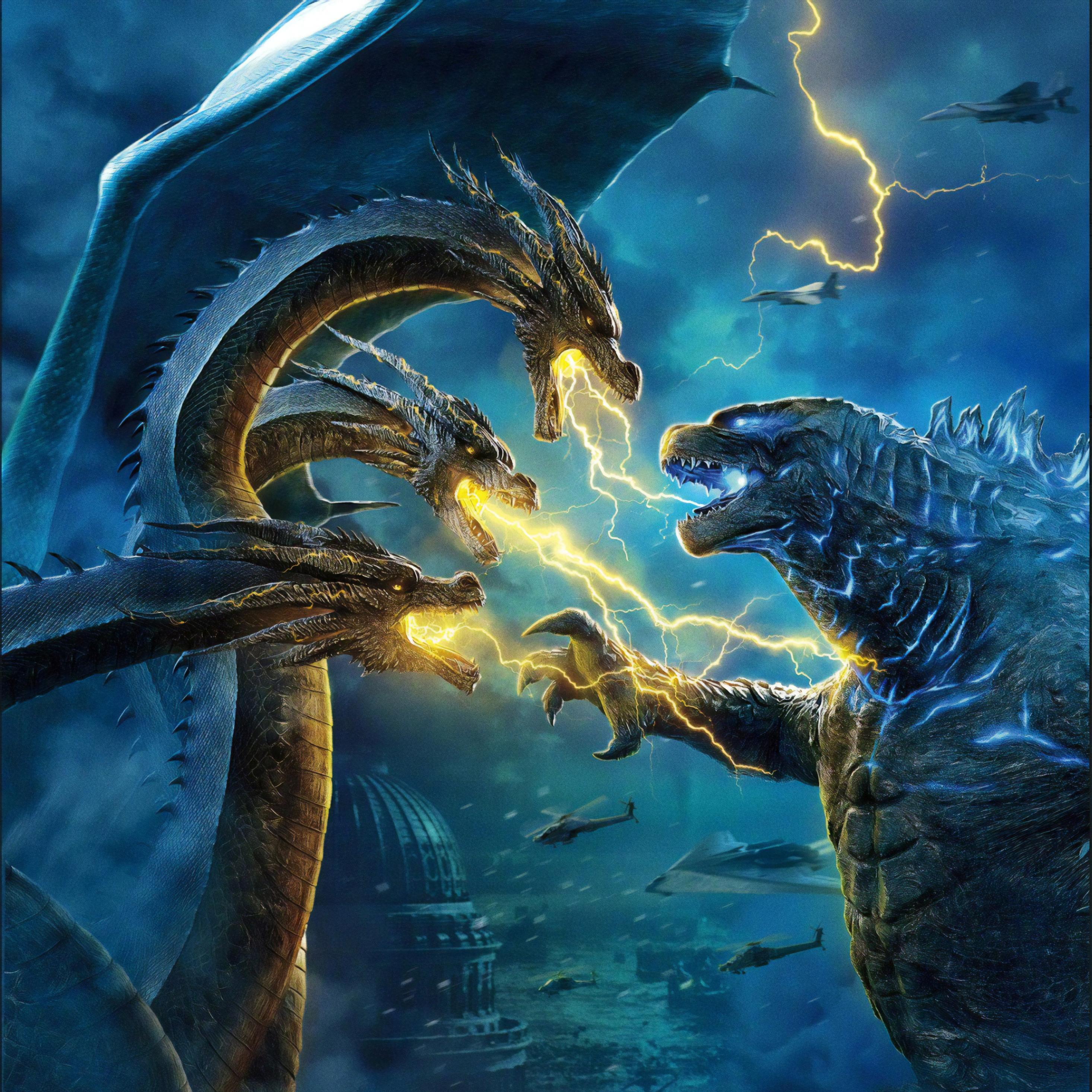 2932x2932 Godzilla King of the Monsters Movie Ipad Pro ...