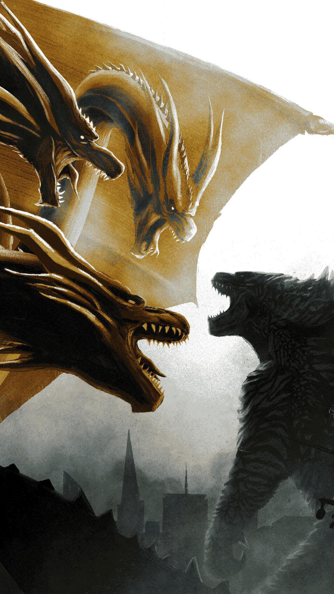 1080x1920 Godzilla Vs King Ghidorah In Godzilla King Of The