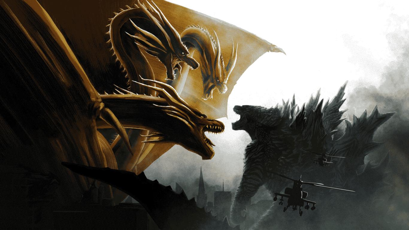 1366x768 Godzilla vs King Ghidorah In Godzilla King of the ...