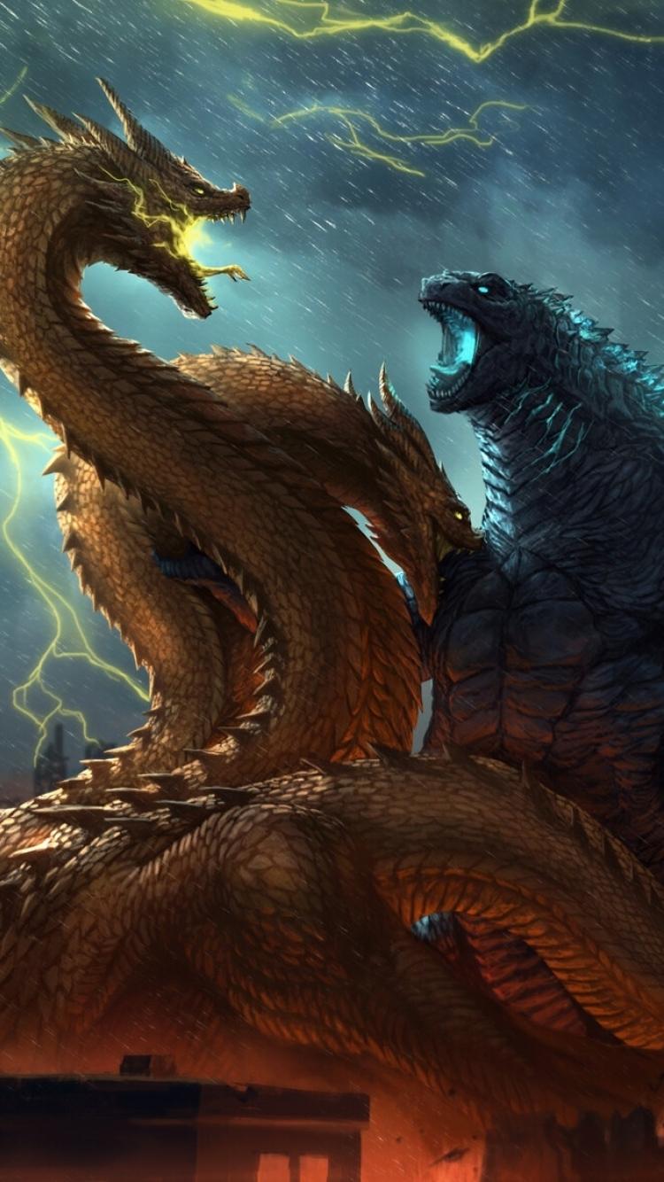 750x1334 Godzilla vs King Ghidorah King of the Monsters ...