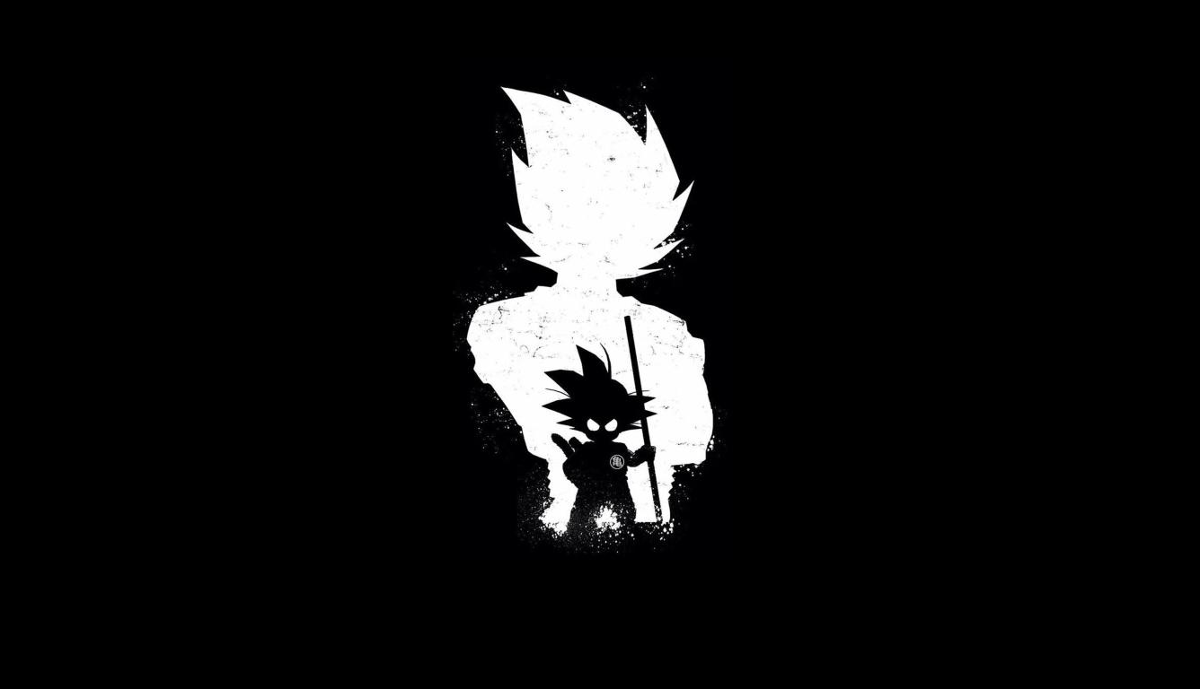 1336x768 Goku Anime Dark Black Hd Laptop Wallpaper Hd Anime 4k