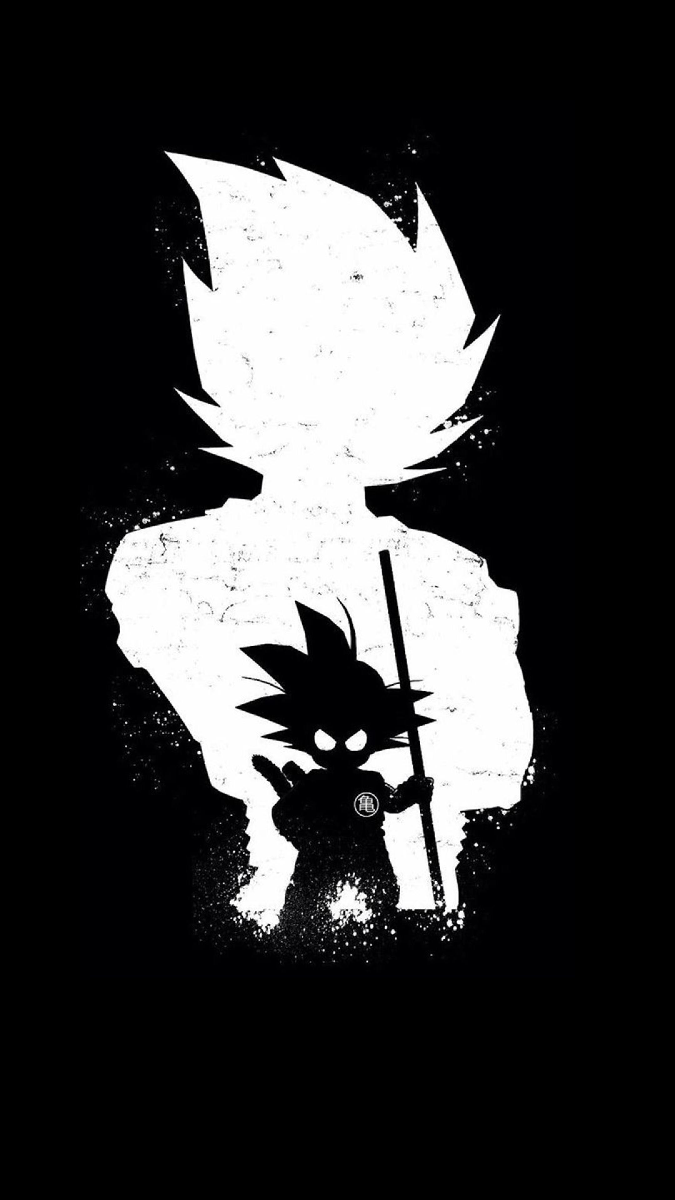 Goku anime dark black hd 4k wallpaper - Portrait anime wallpaper ...