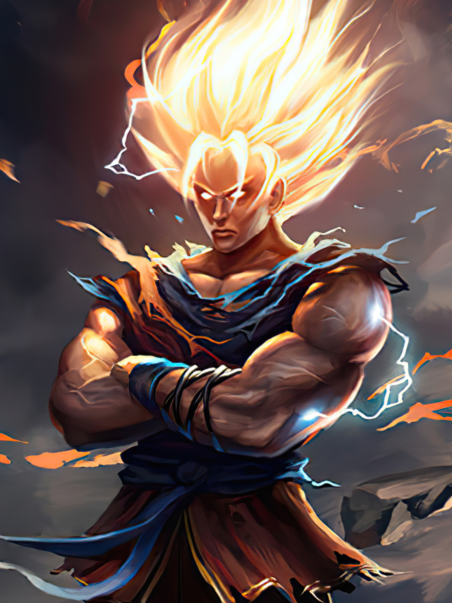 1536x2048 Goku New Dragon Ball Z Art 1536x2048 Resolution ...