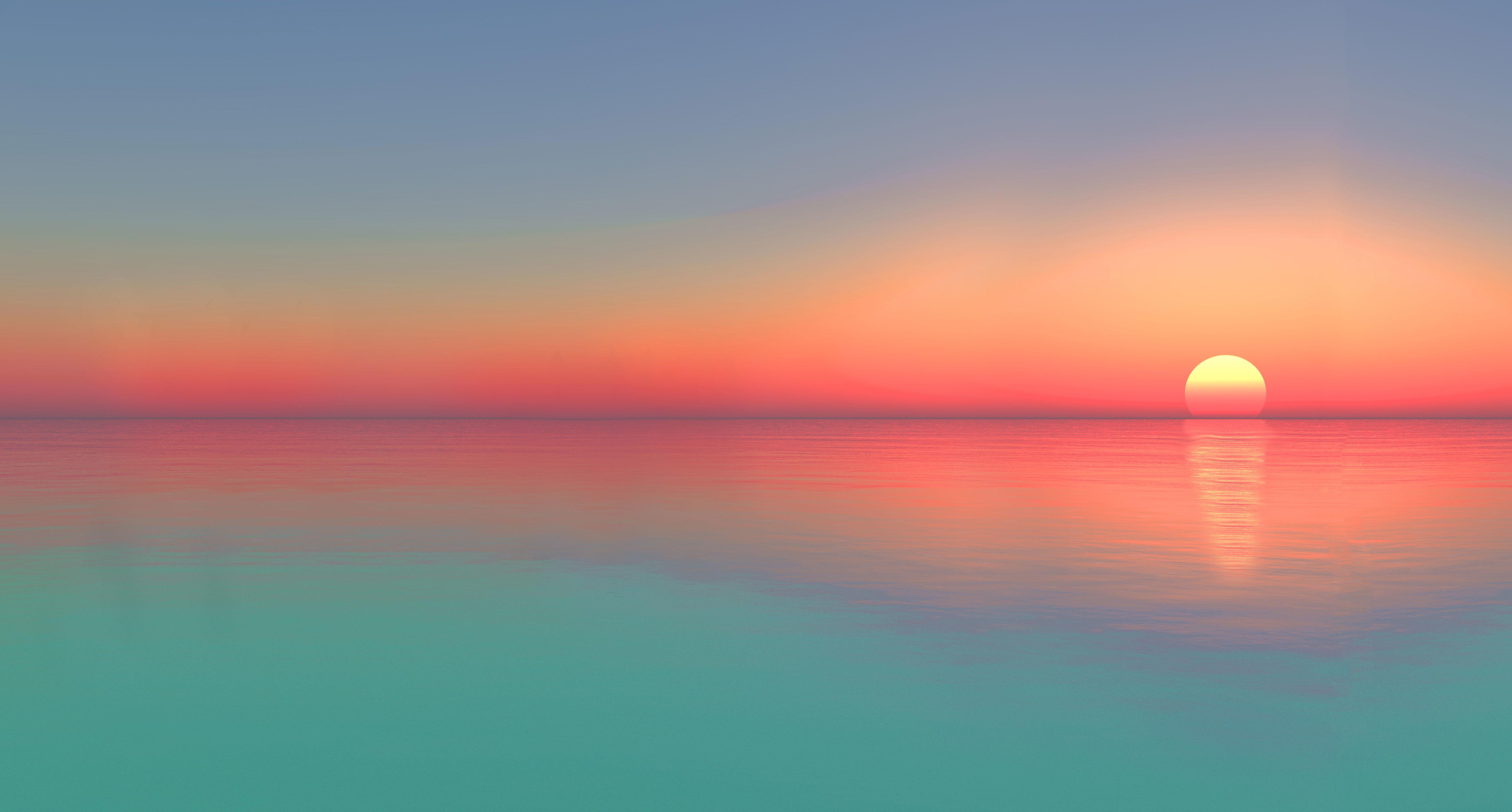Gradient Calm Sunset Wallpaper Hd Nature 4k Wallpapers