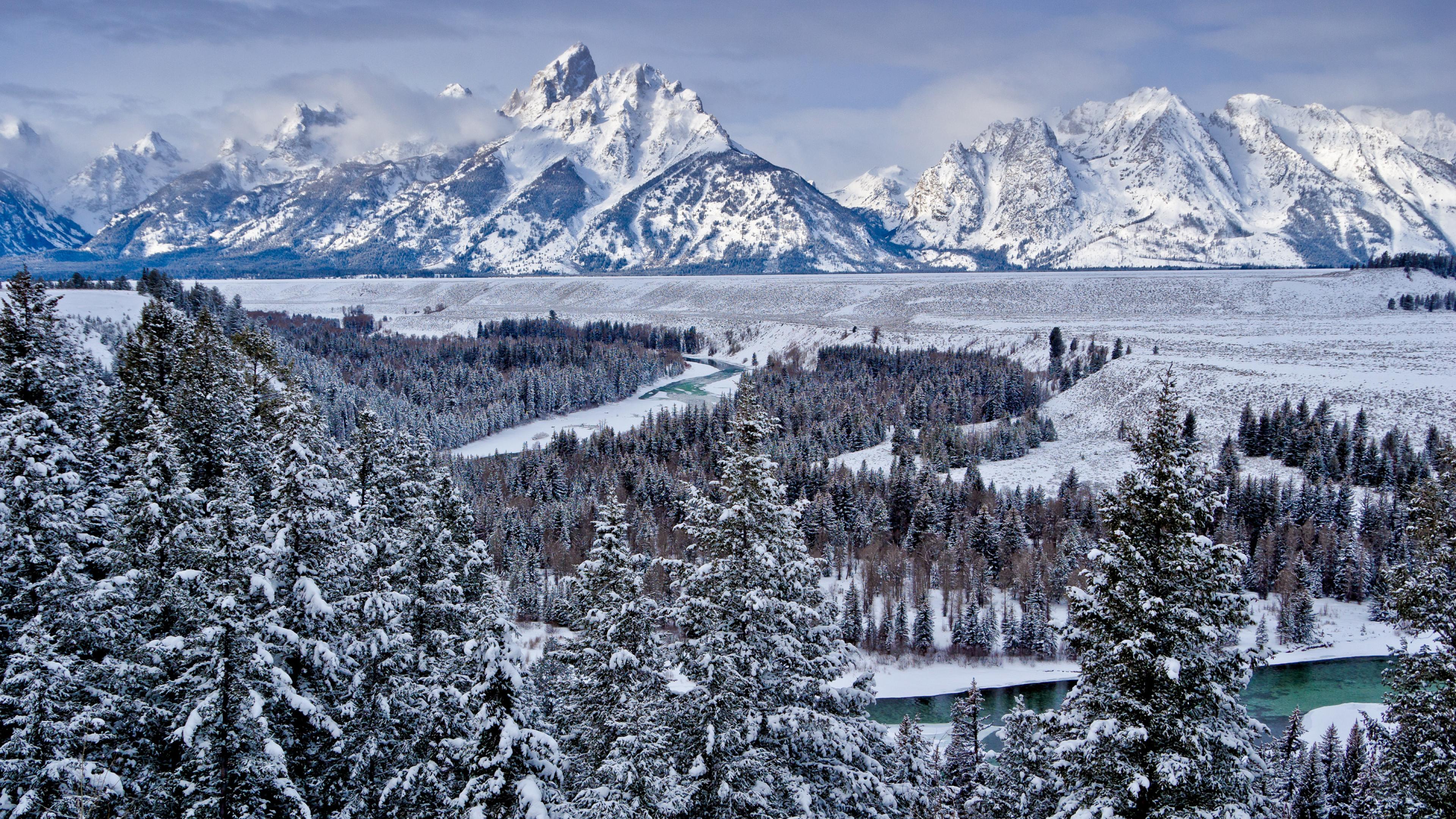 3840x2160 Grand Teton National Park United States Mountains 4k